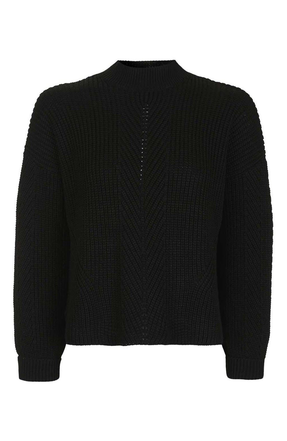 Alternate Image 4  - Topshop Ribbed Sweater