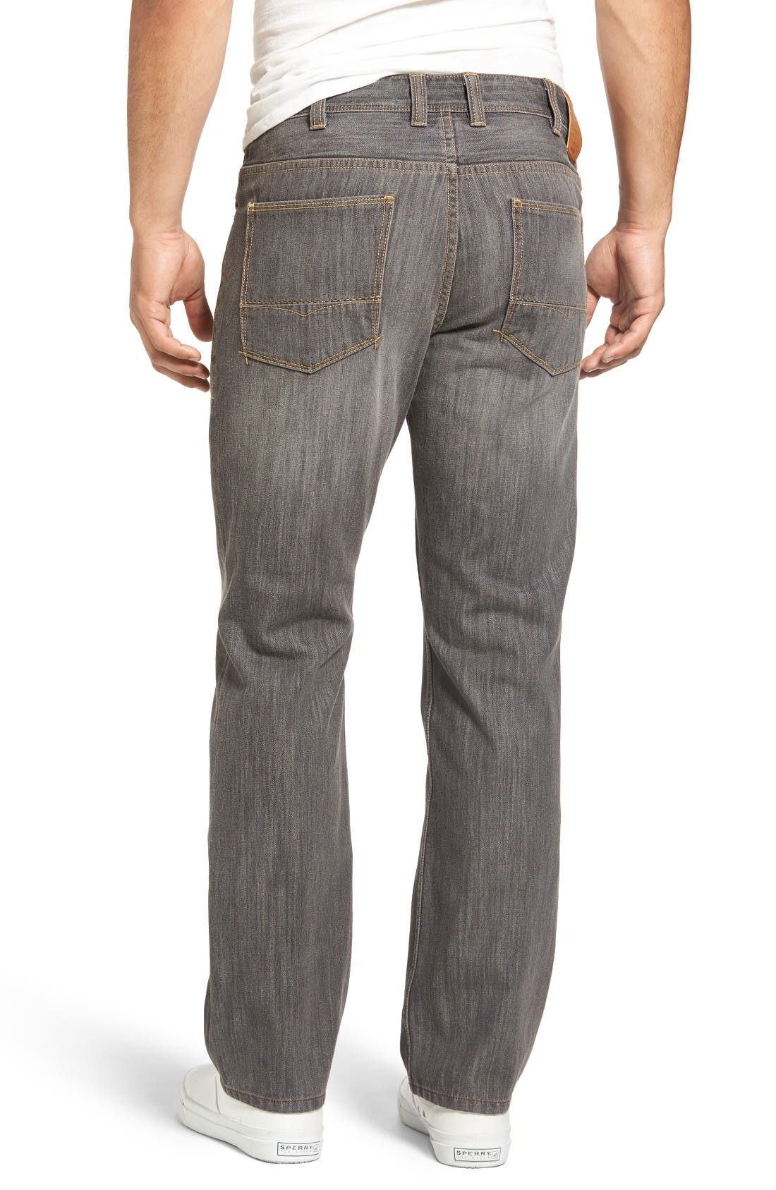 Barbados Straight Leg Jeans,                             Alternate thumbnail 2, color,                             Vintage Grey Wash