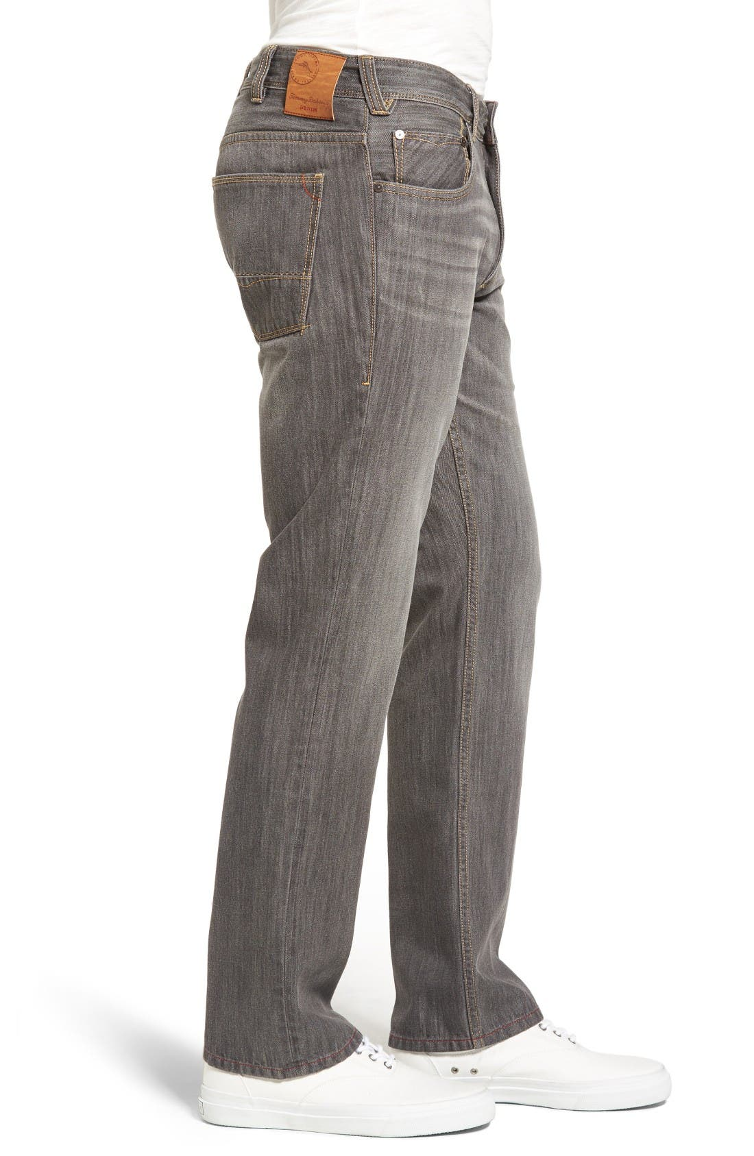 Barbados Straight Leg Jeans,                             Alternate thumbnail 3, color,                             Vintage Grey Wash