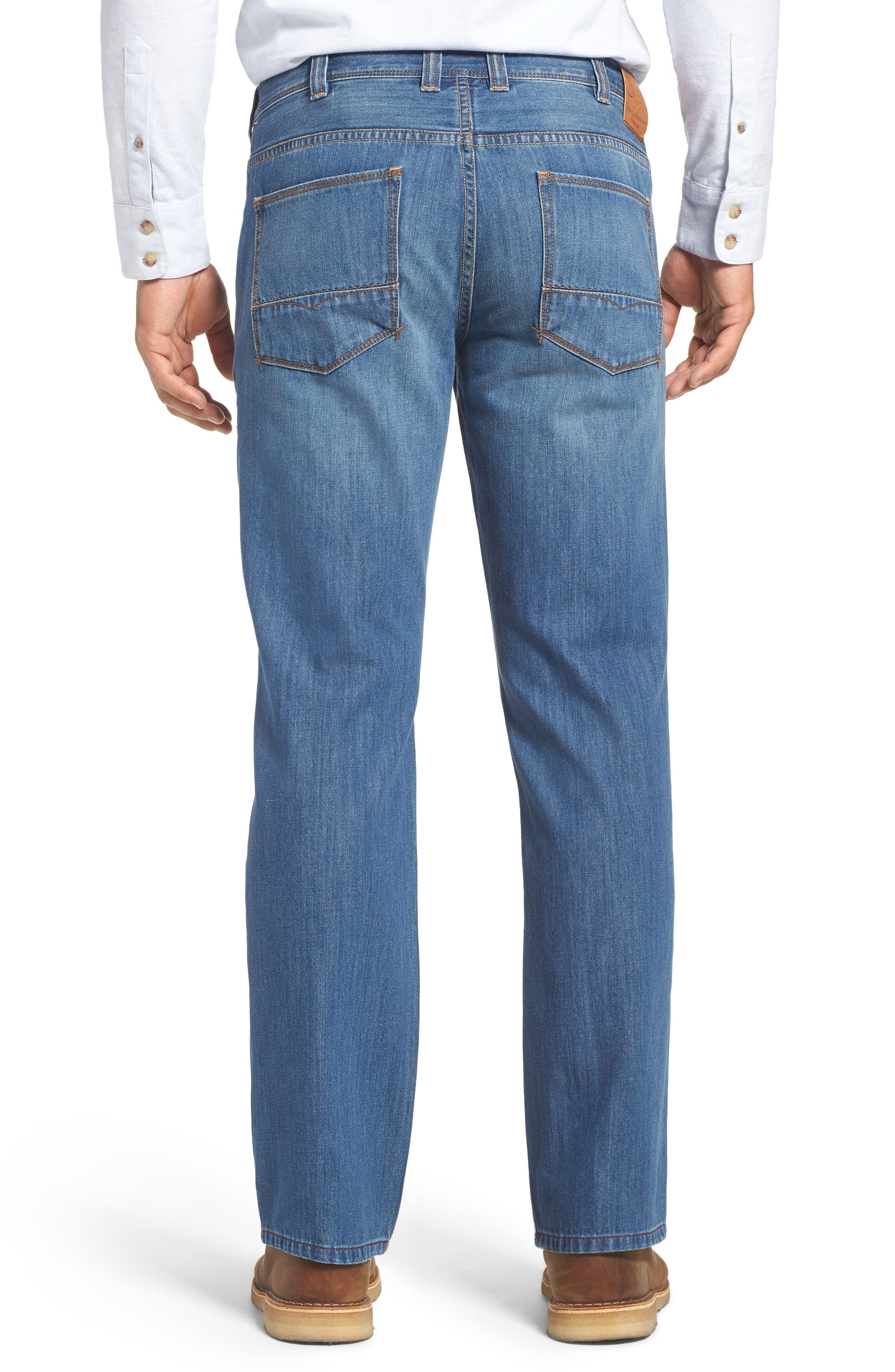 Barbados Straight Leg Jeans,                             Alternate thumbnail 2, color,                             Light Indigo Wash