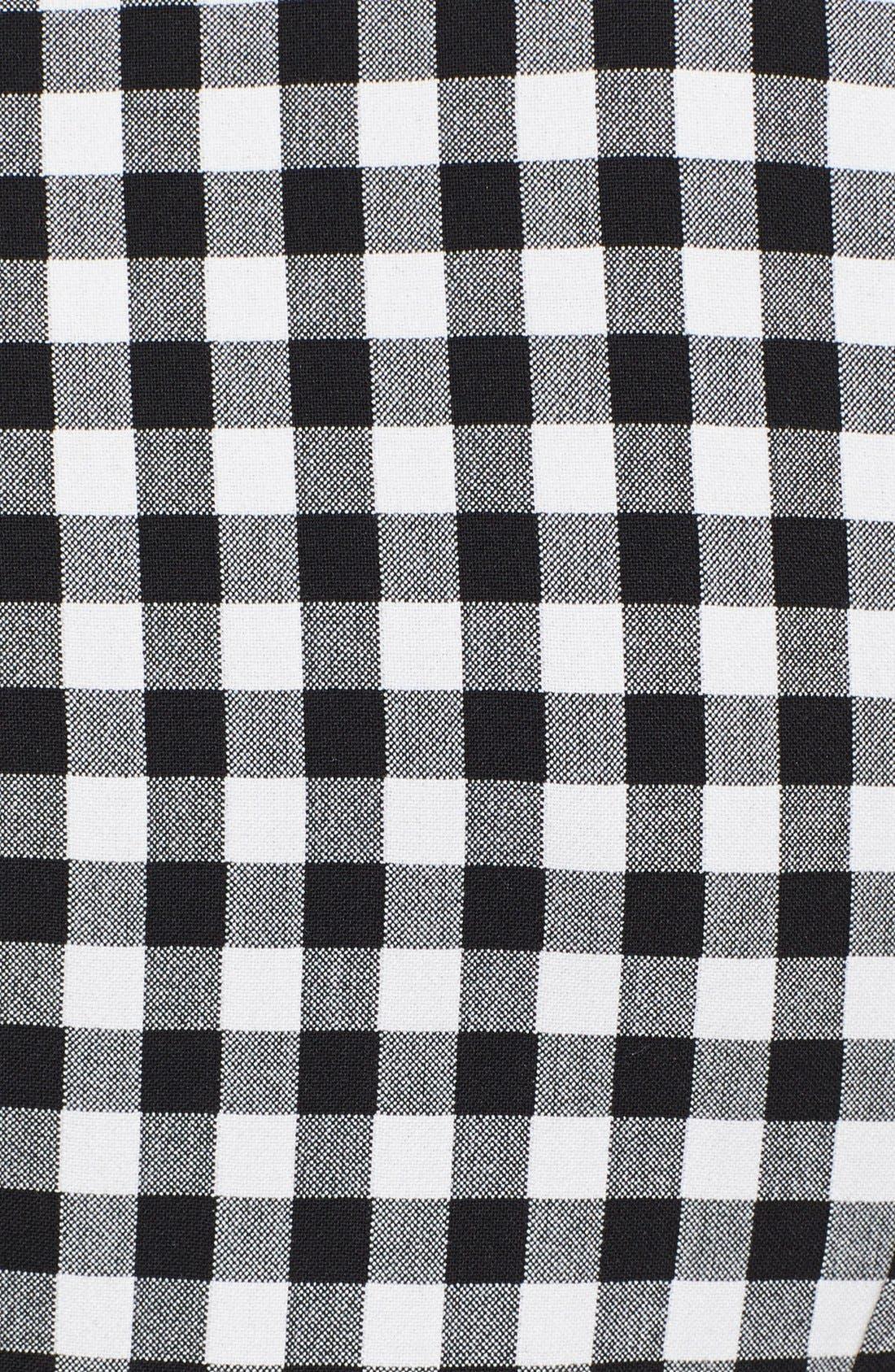 'Genesis' Gingham Pants,                             Alternate thumbnail 3, color,                             Black/ White