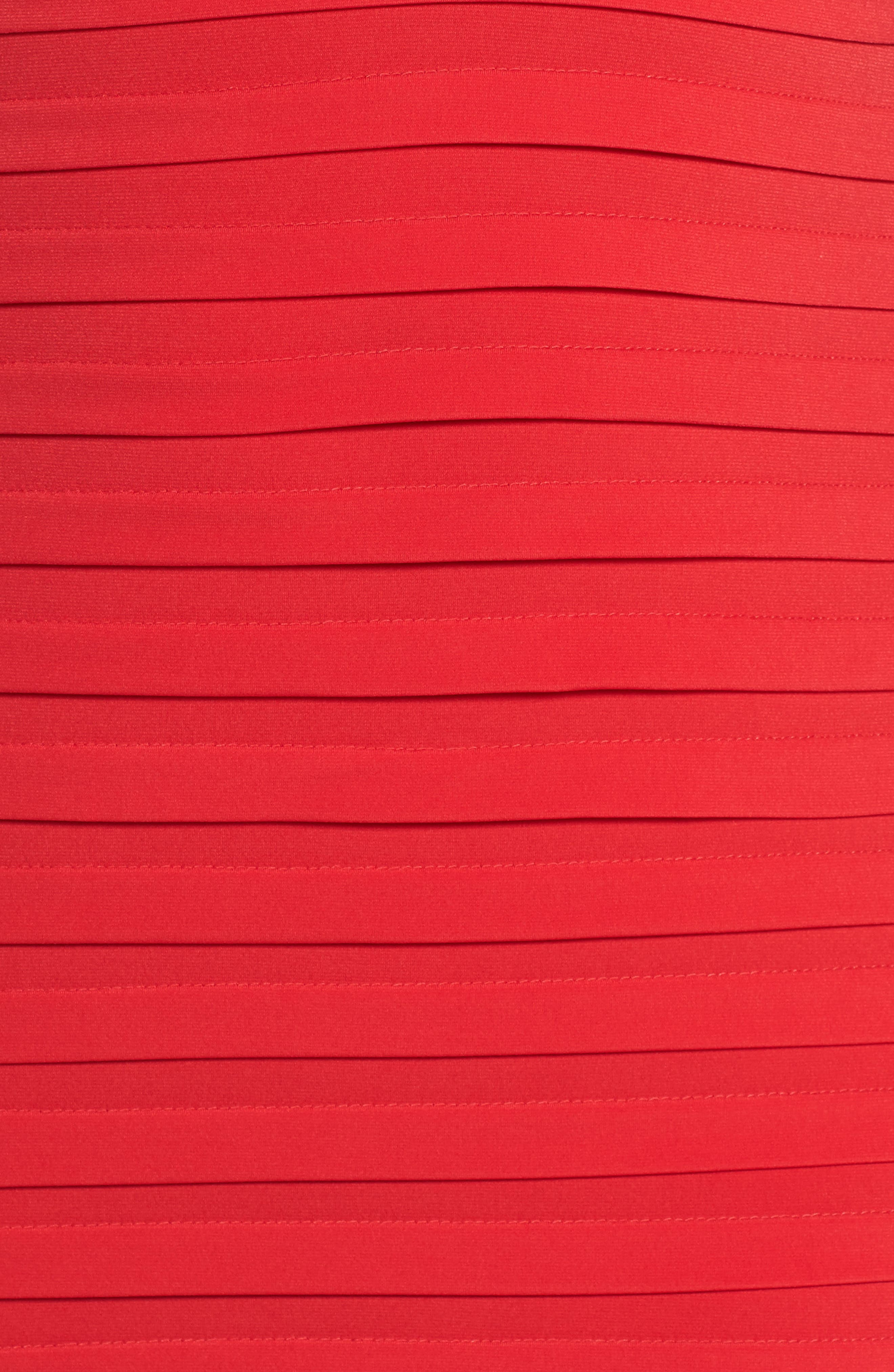 Alternate Image 5  - London Times Cold Shoulder Shutter Pleat Jersey Sheath Dress (Plus Size)