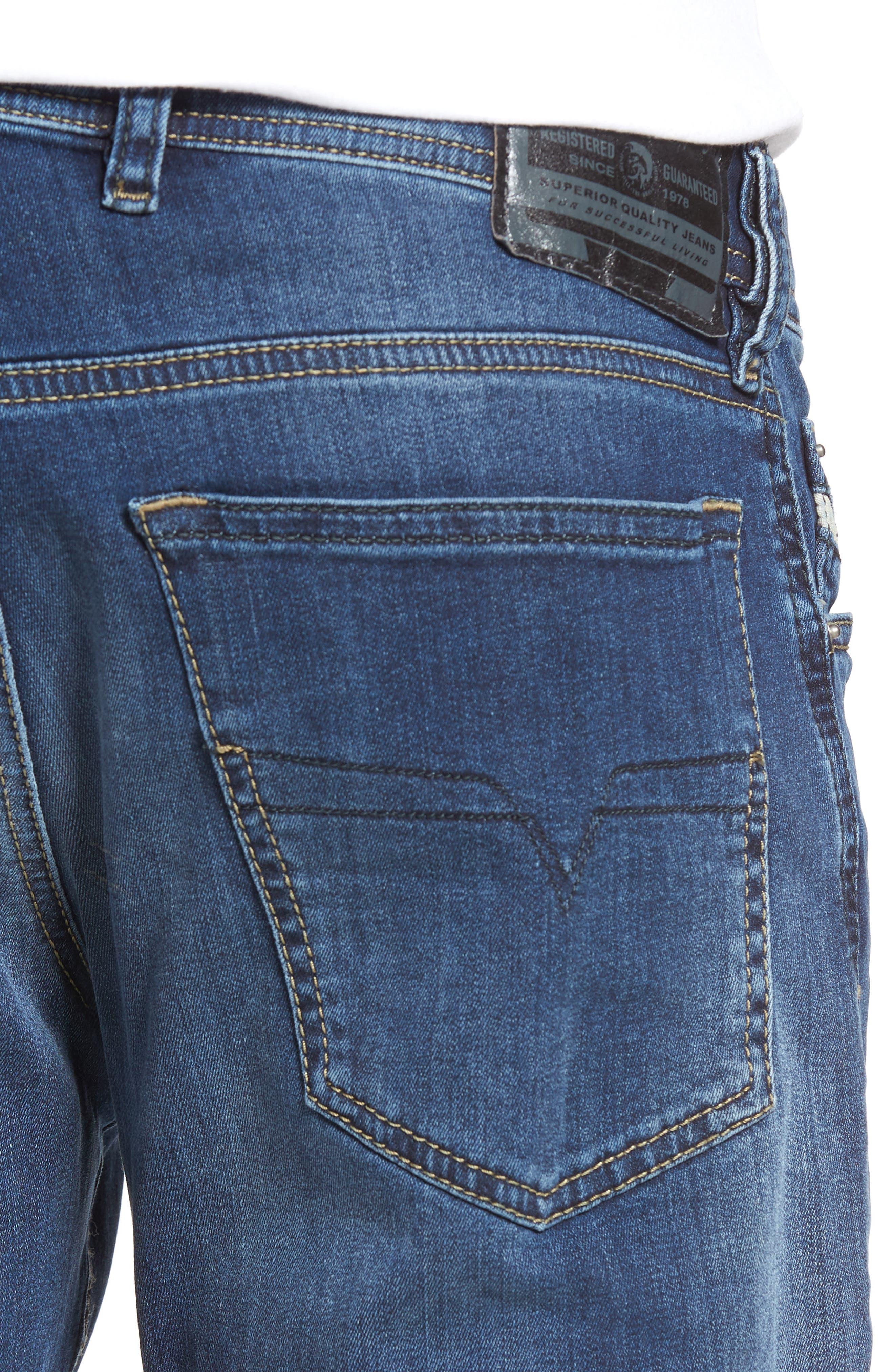 Waykee Straight Leg Jeans,                             Alternate thumbnail 4, color,                             0679I