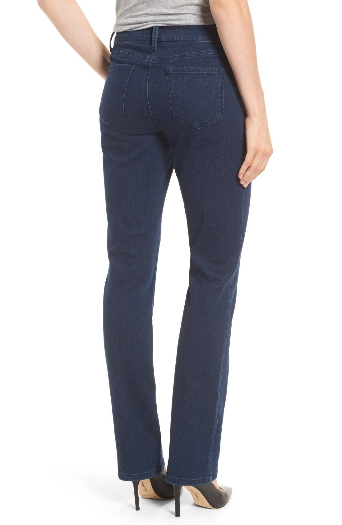 Alternate Image 2  - NYDJ Marilyn Stretch Straight Leg Jeans (Highpoint)