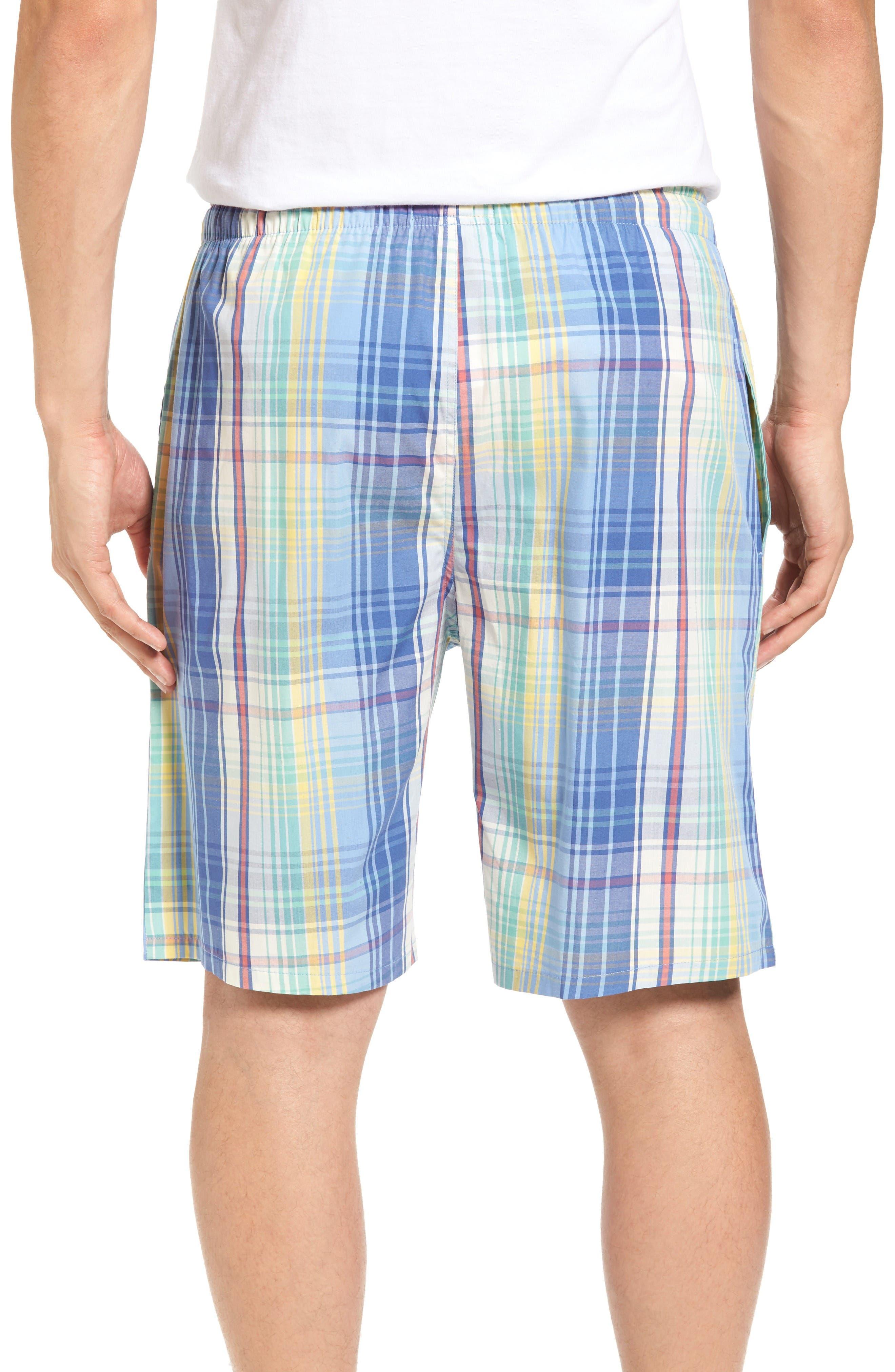Cotton Pajama Shorts,                             Alternate thumbnail 2, color,                             Avery Plaid