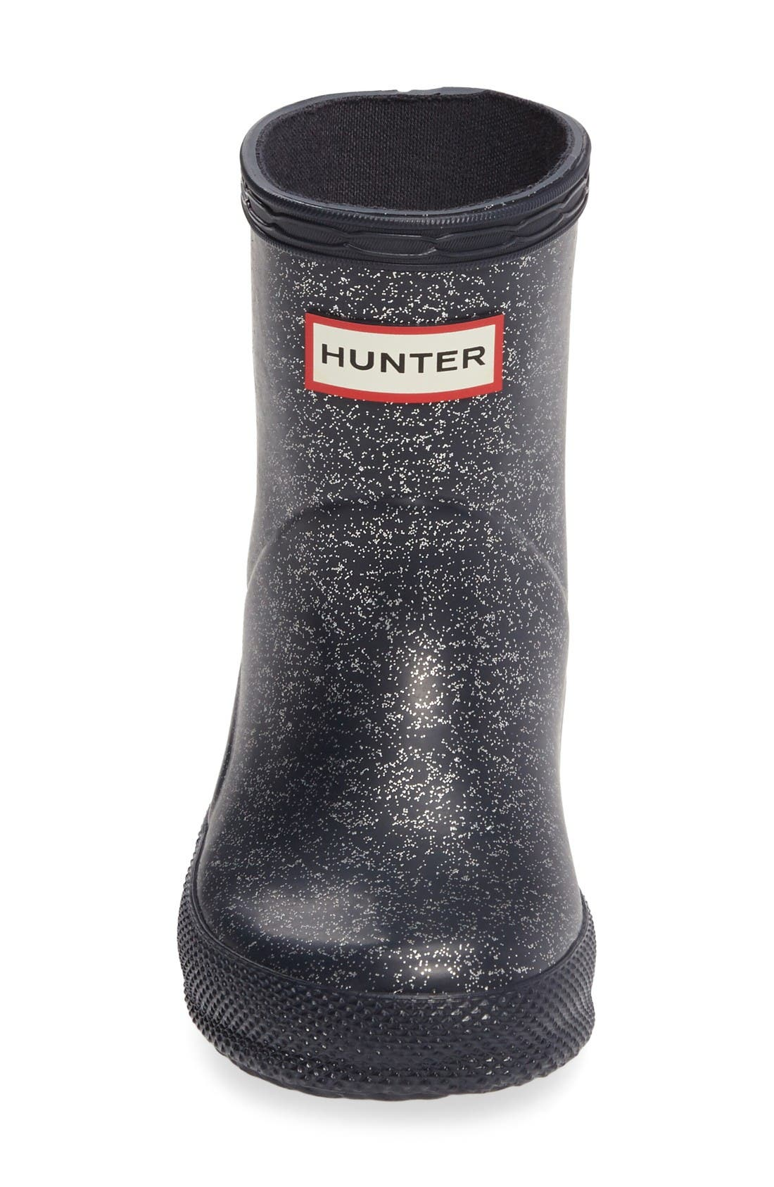 Alternate Image 3  - Hunter 'First Classic' Glitter Rain Boot (Walker, Toddler, Little Kid & Big Kid)