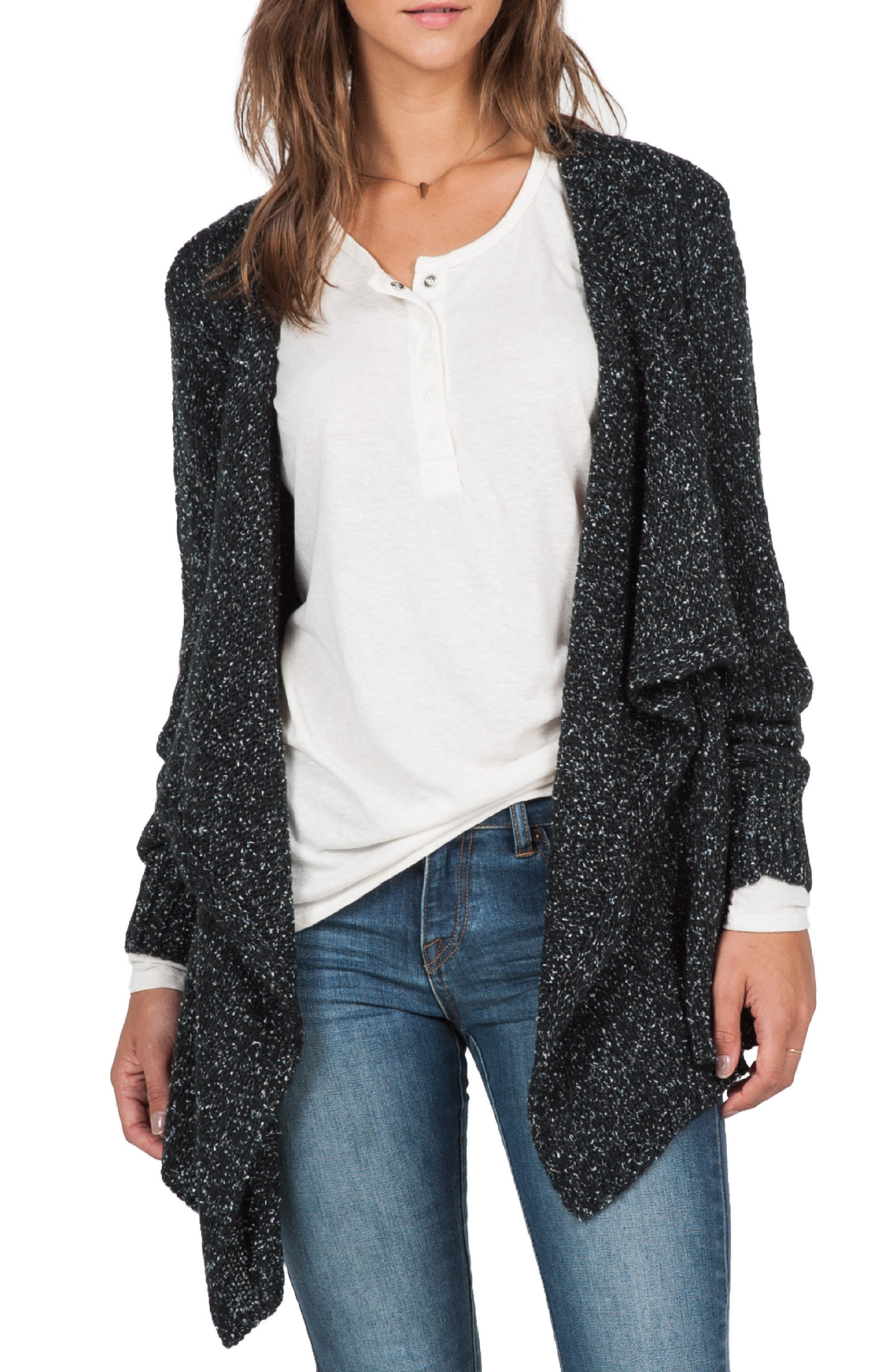 Alternate Image 1 Selected - Volcom 'Channeling' Drape Front Cardigan