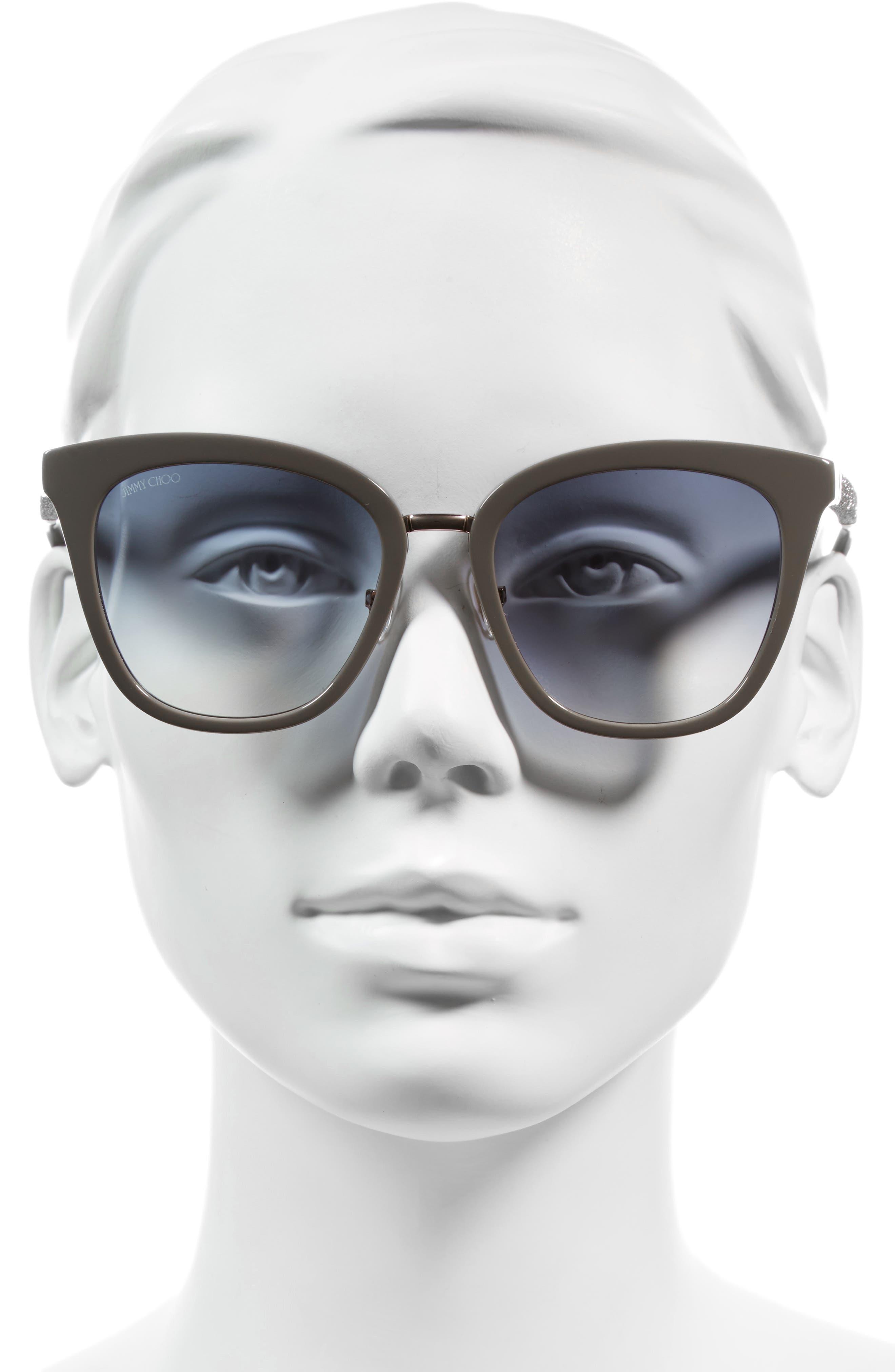 Alternate Image 2  - Jimmy Choo Fabry 53mm Sunglasses