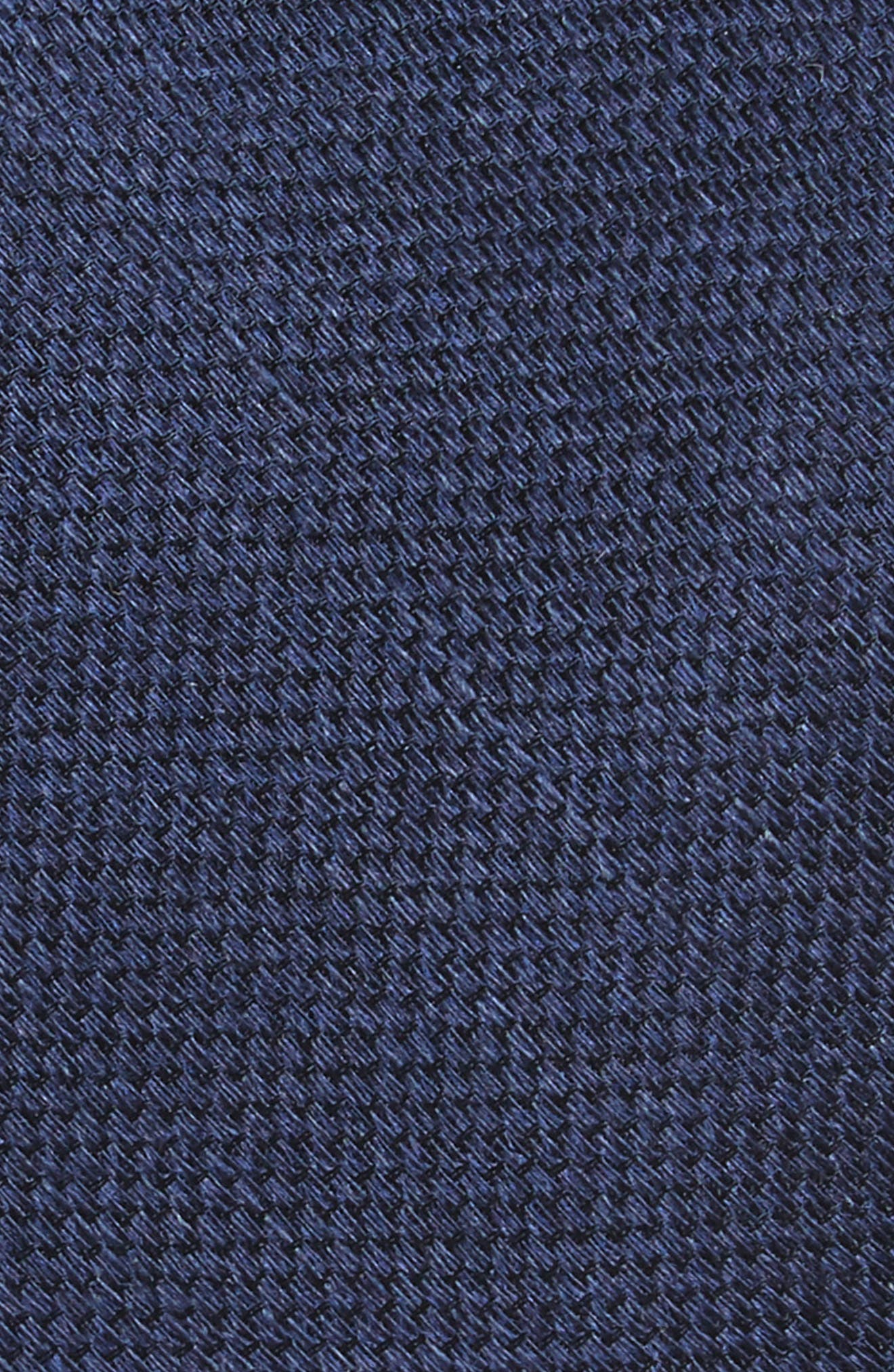 Festival Textured Silk & Linen Tie,                             Alternate thumbnail 2, color,                             Navy