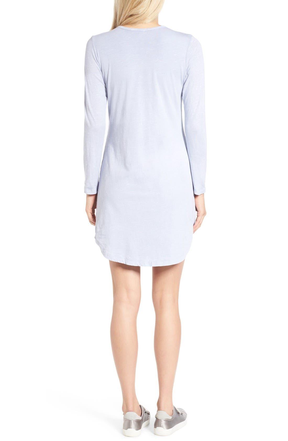 Alternate Image 2  - Sundry Long Sleeve T-Shirt Dress