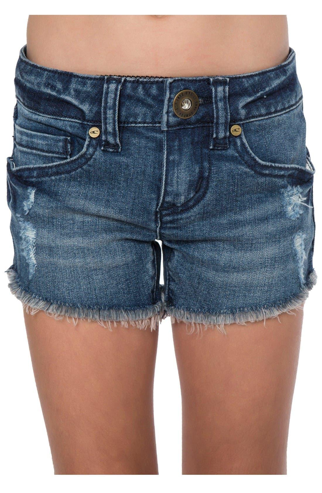 Compass Cutoff Shorts,                         Main,                         color, Mystic