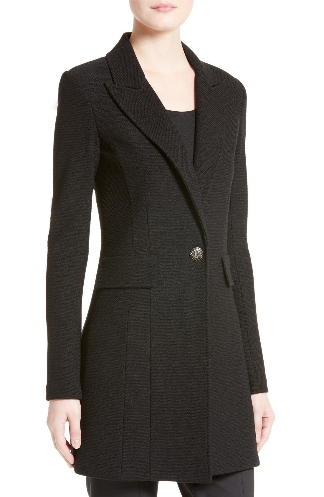 Alternate Image 6  - St. John Collection Micro Bouclé Knit Blazer