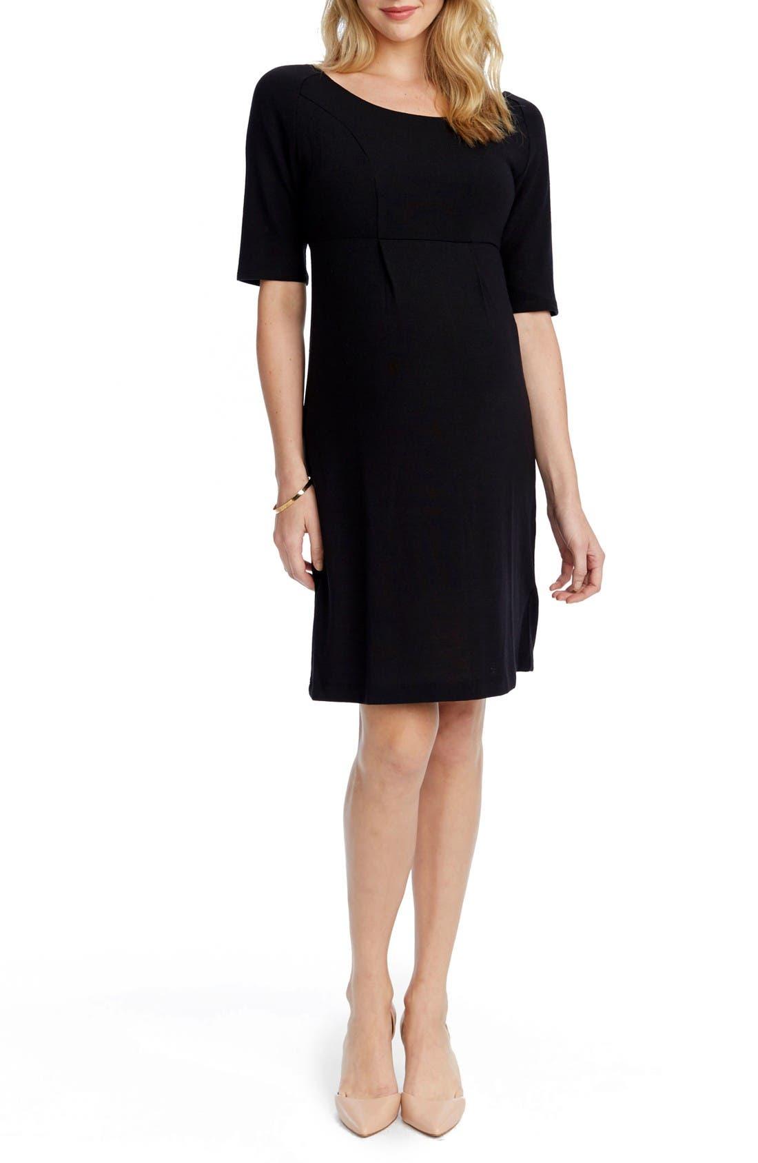 ROSIE POPE Avery Maternity Sheath Dress in Black