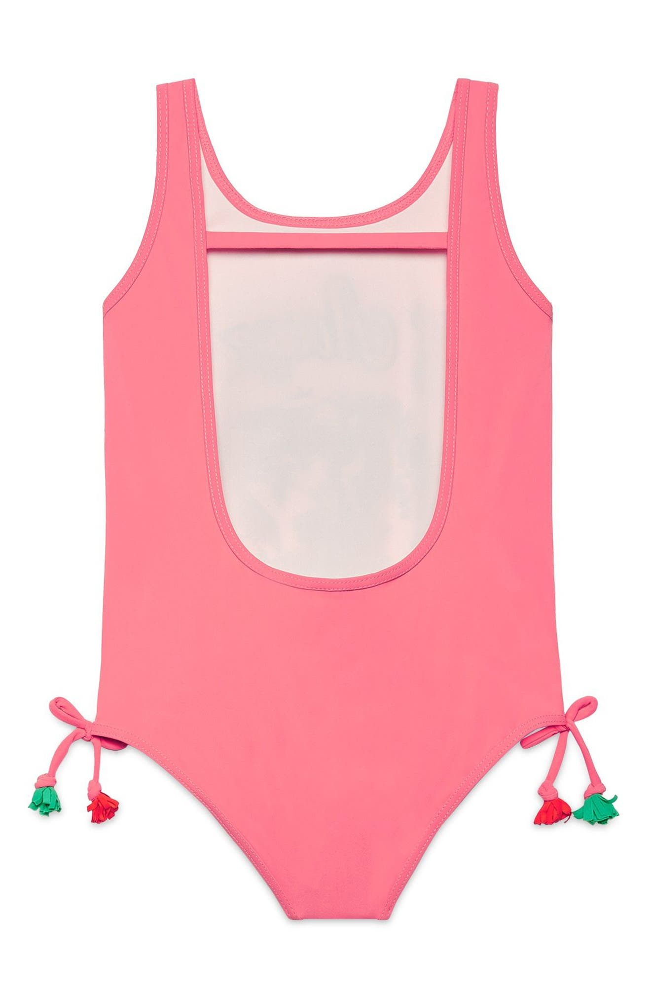 Alternate Image 2  - Gucci Graphic One-Piece Swimsuit (Little Girls & Big Girls)