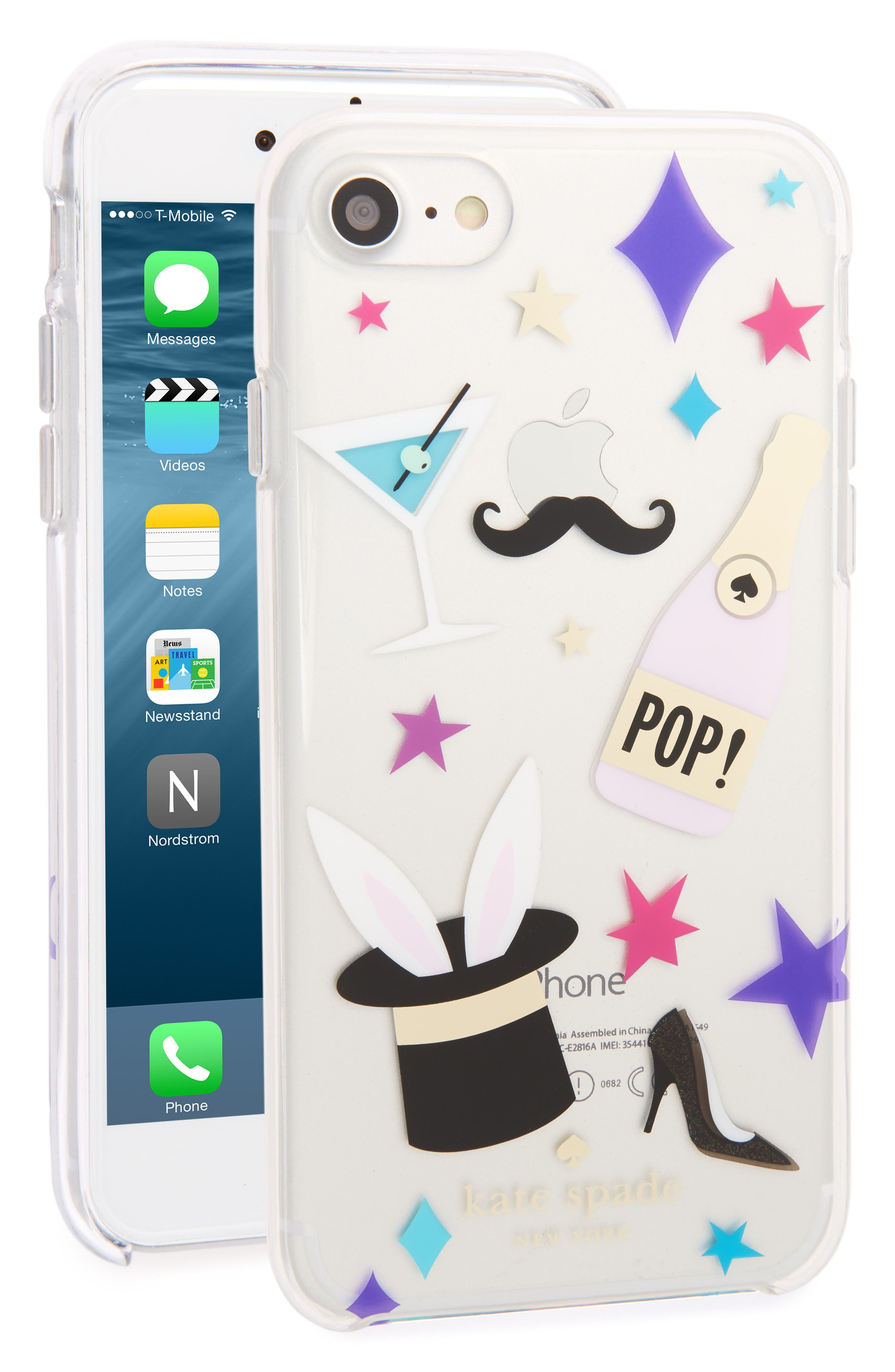 Alternate Image 1 Selected - kate spade new york magic patches iPhone 7 case
