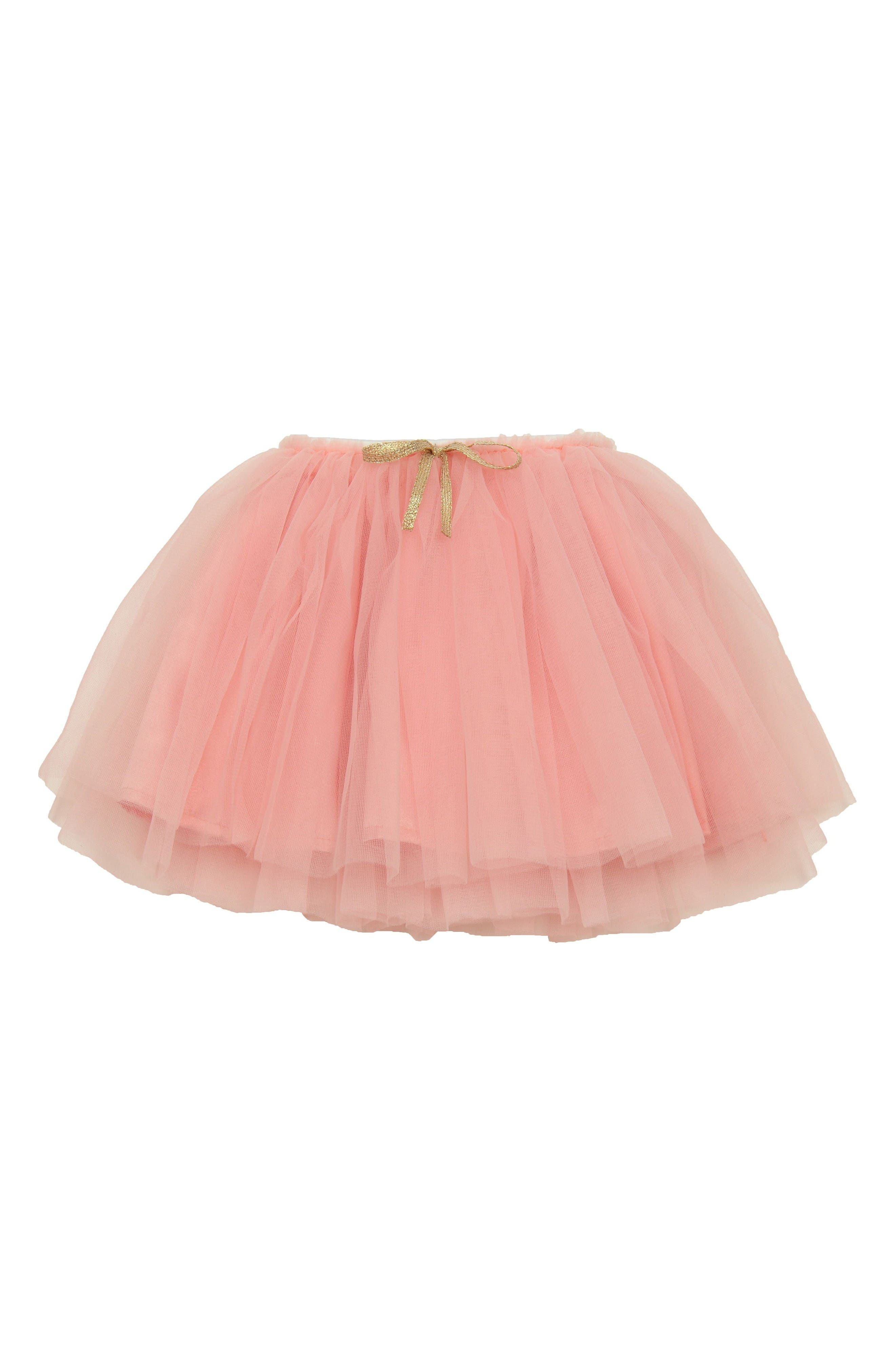 Tutu Skirt,                         Main,                         color, Peach