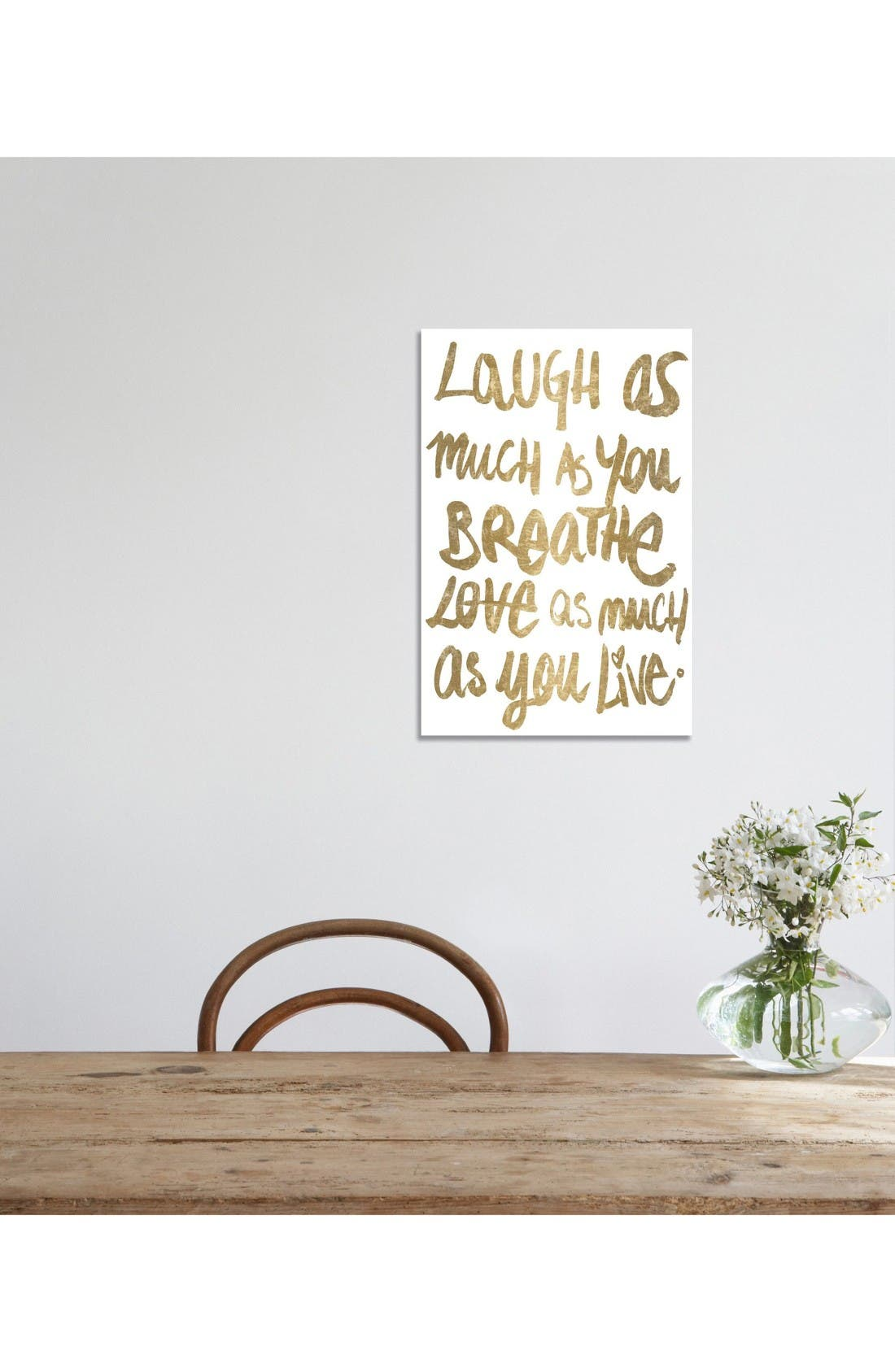 Alternate Image 2  - Oliver Gal Laugh as Much as You Breathe Canvas Print