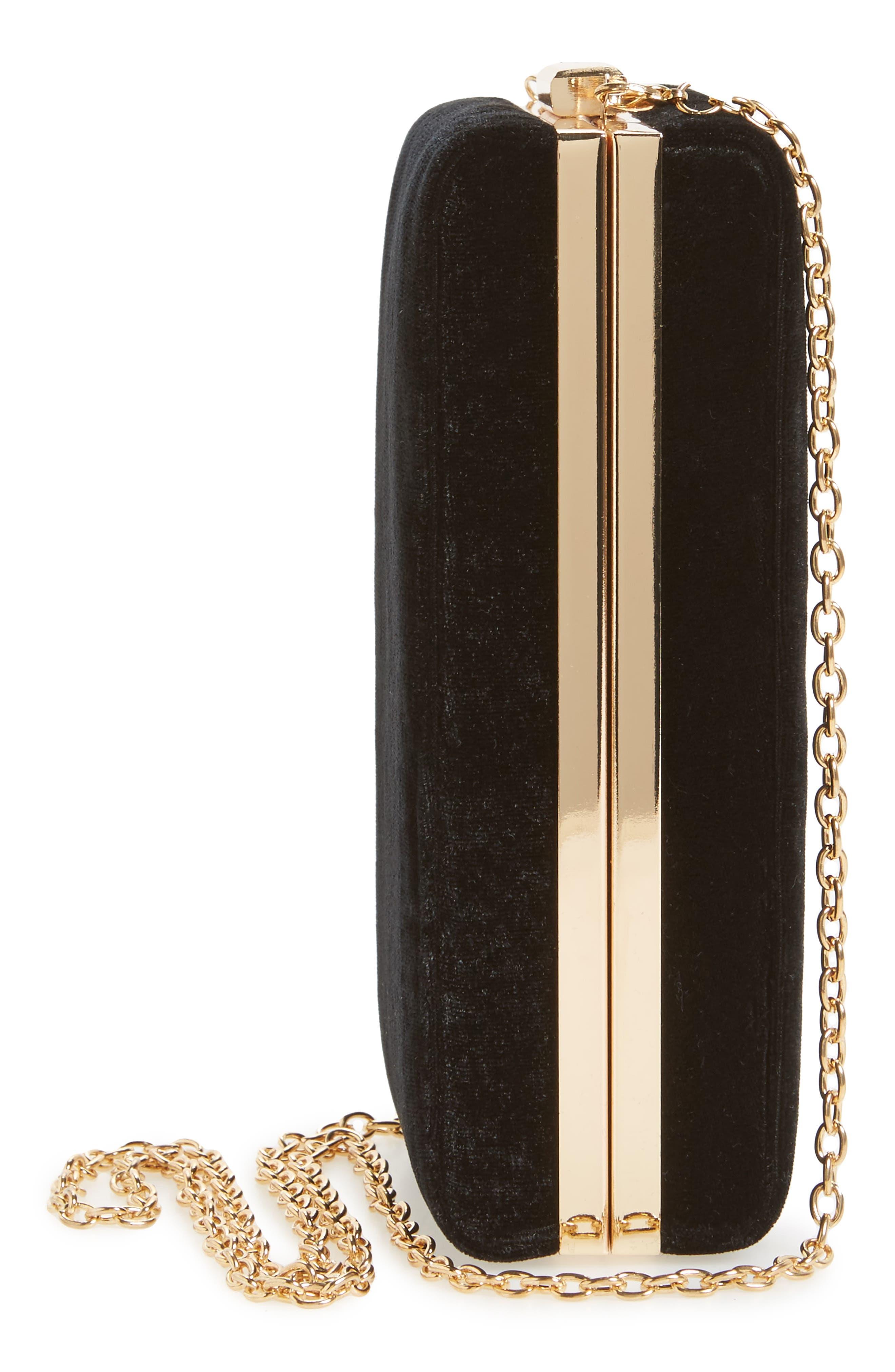 Alternate Image 5  - Leith Velvet Box Clutch