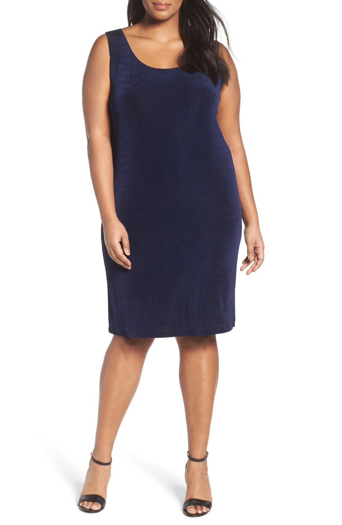 Vikki Vi Sleeveless Shift Dress (Plus Size)