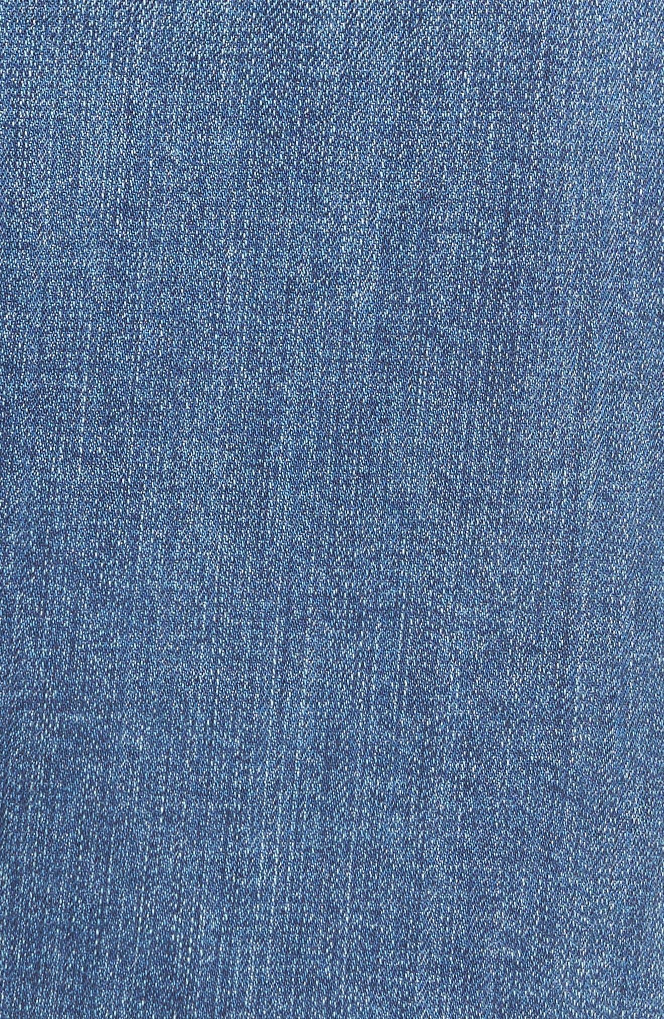 Alternate Image 5  - Caslon® Release Hem Denim Pencil Skirt