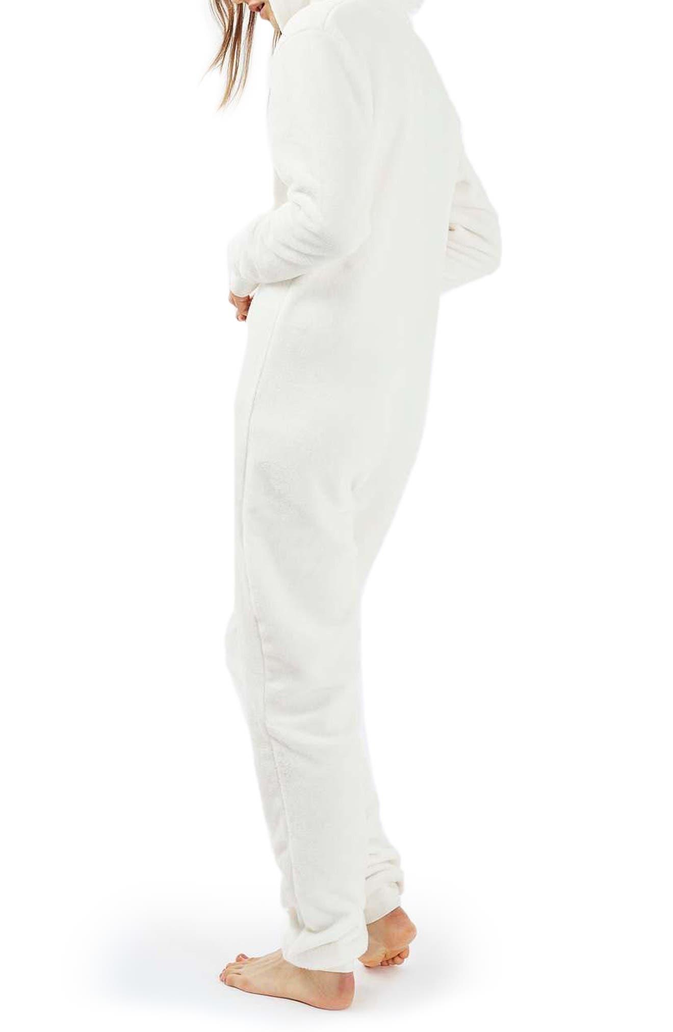 Alternate Image 2  - Topshop Unicorn One-Piece Pajamas