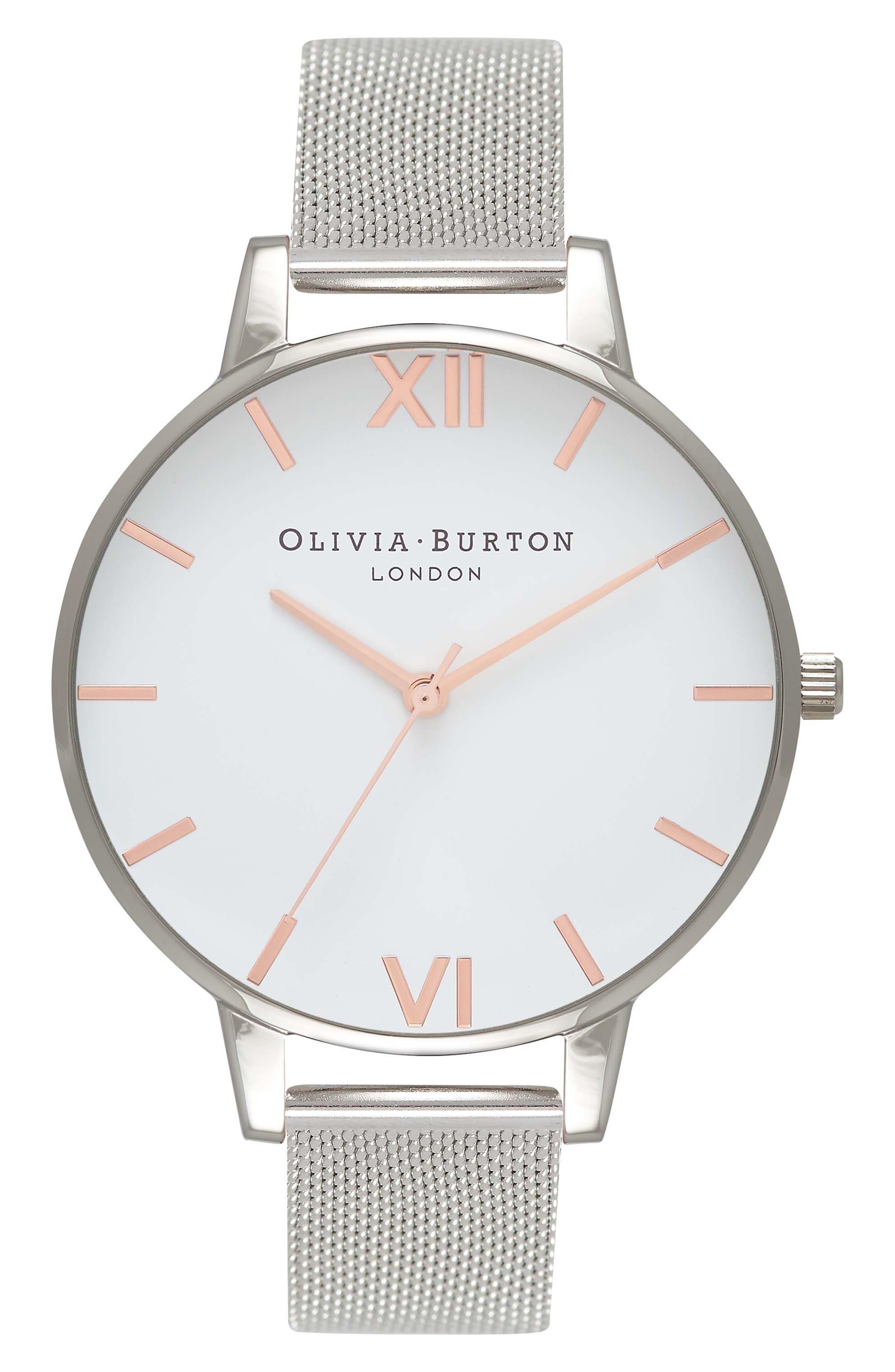 Main Image - Olivia Burton Mesh Strap Watch, 38mm
