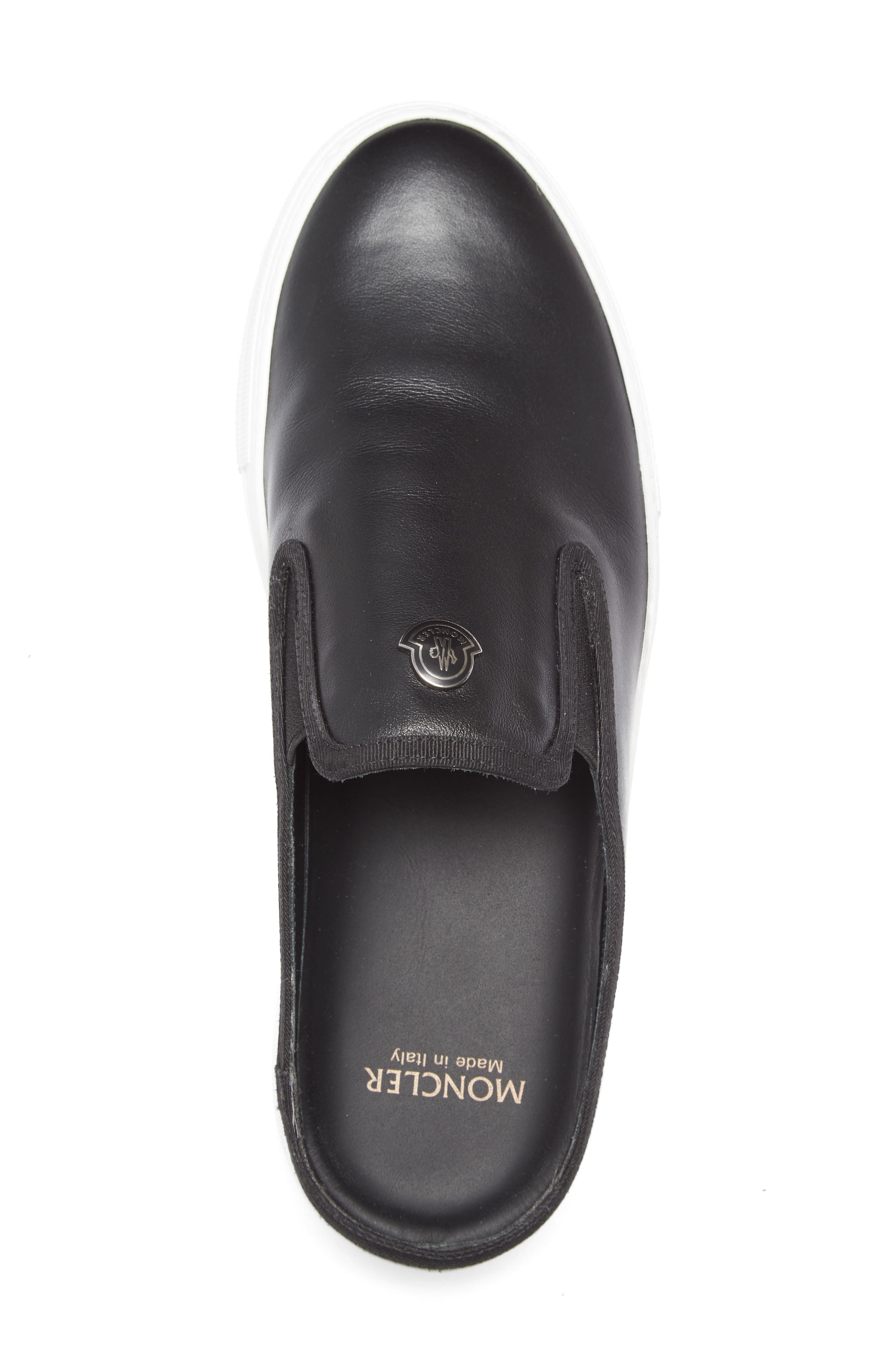 Tiphanie Backless Platform Sneaker,                             Alternate thumbnail 3, color,                             Black Leather