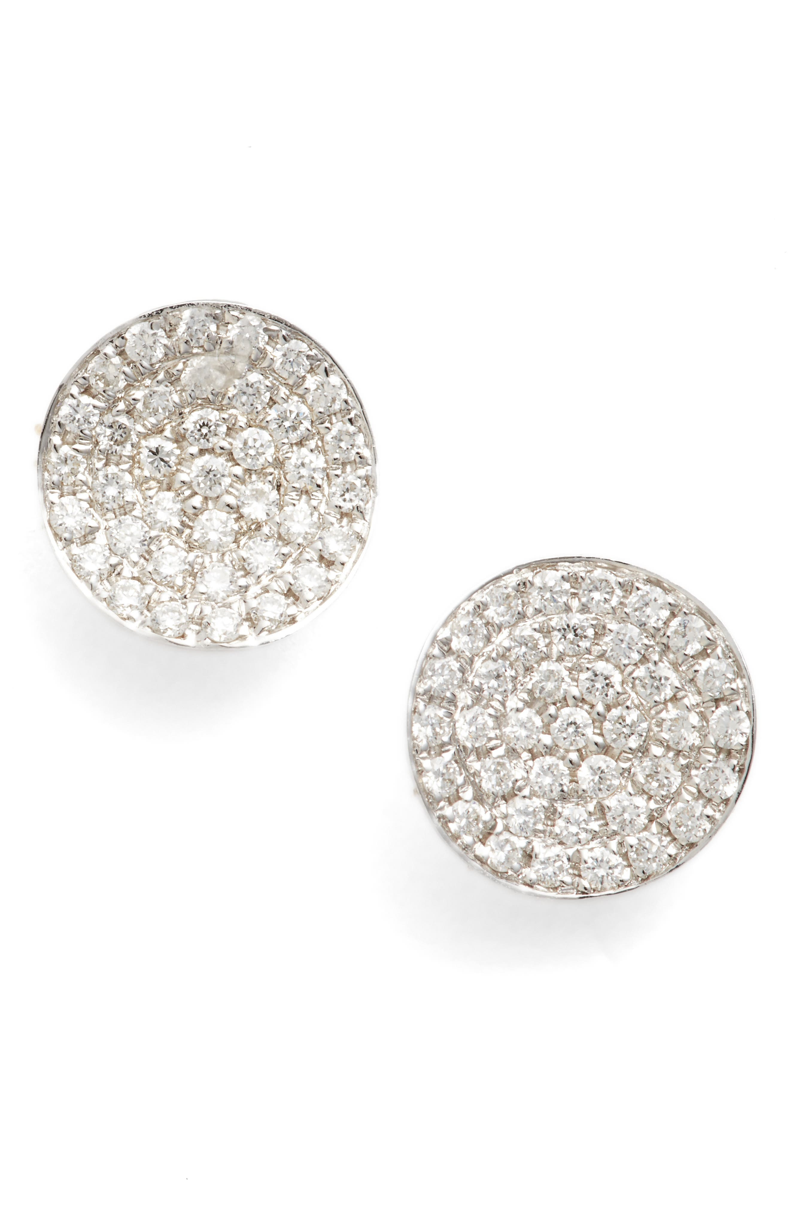 Alternate Image 1 Selected - Bony Levy Aurelia Diamond Concave Stud Earrings (Nordstrom Exclusive)
