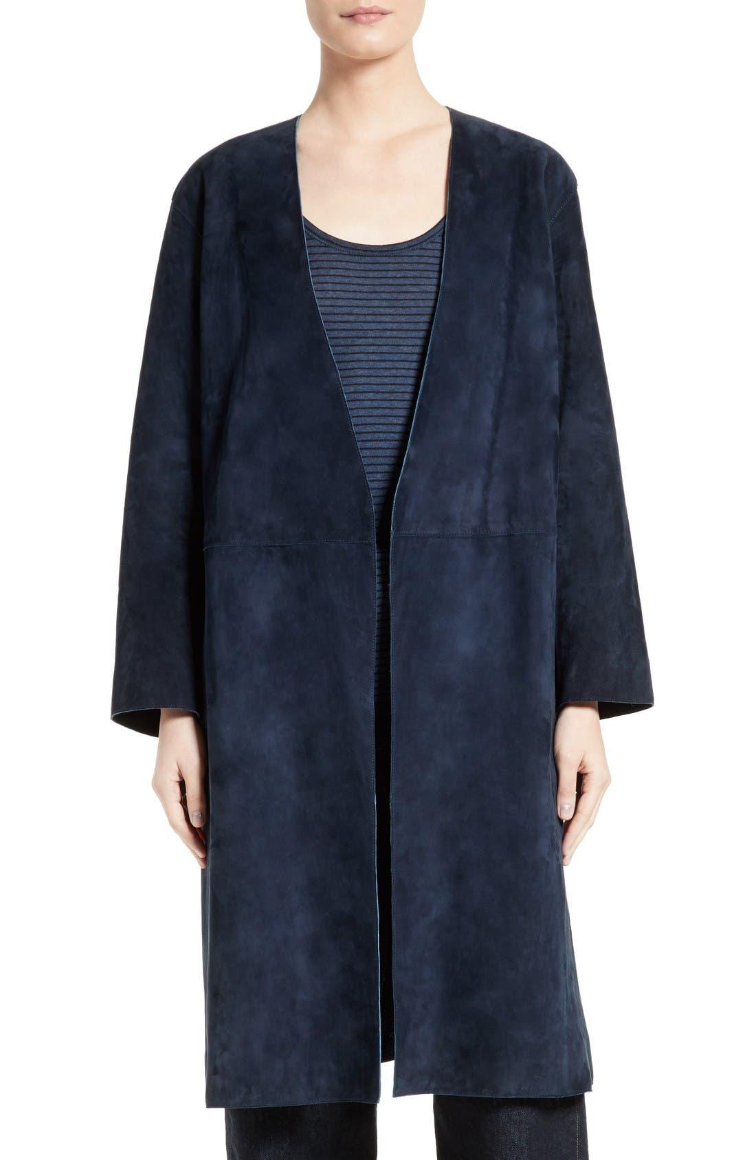 Alternate Image 4  - Vince Suede Robe Coat