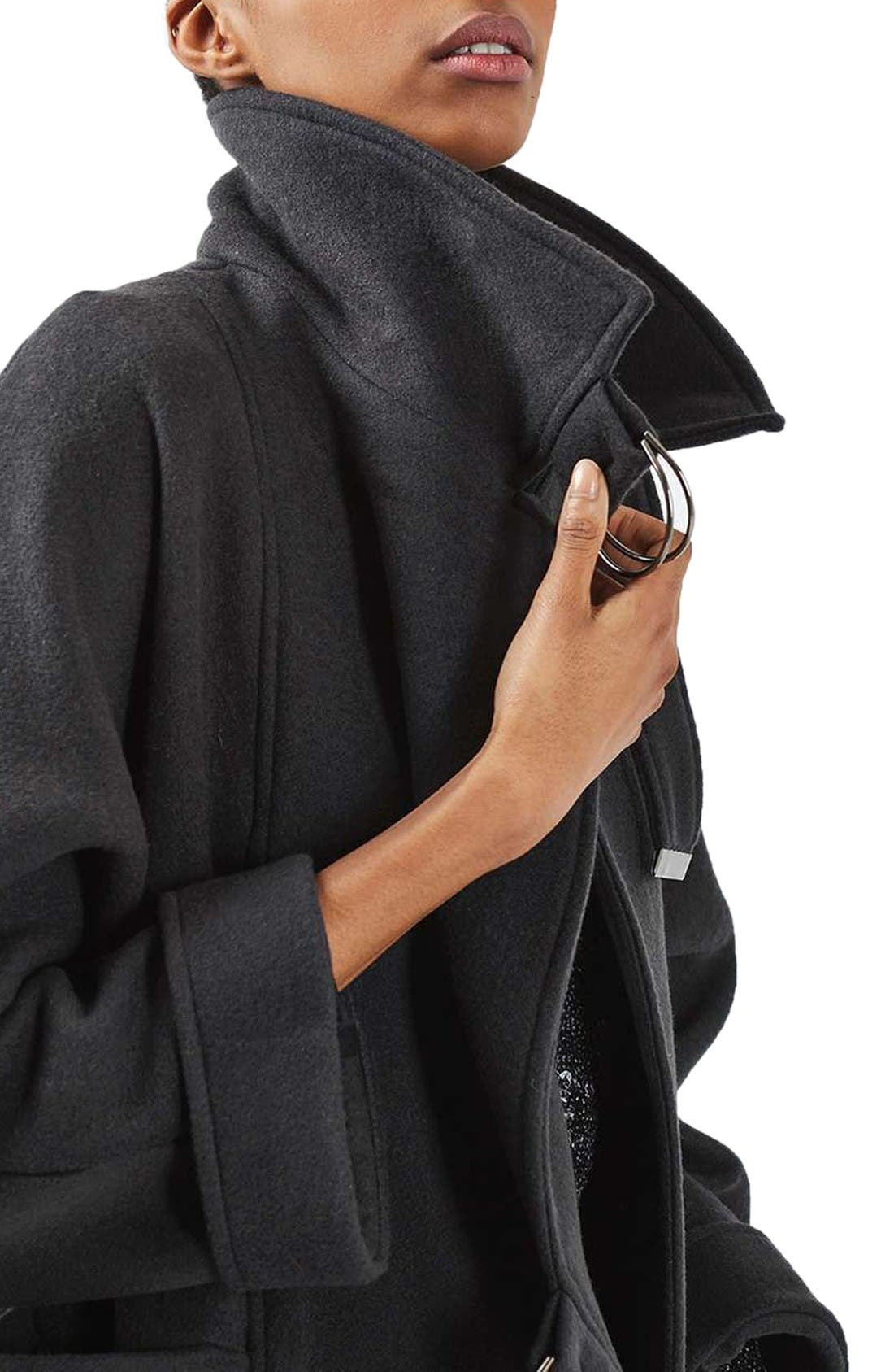 Alternate Image 5  - Topshop Wool Blend Coat
