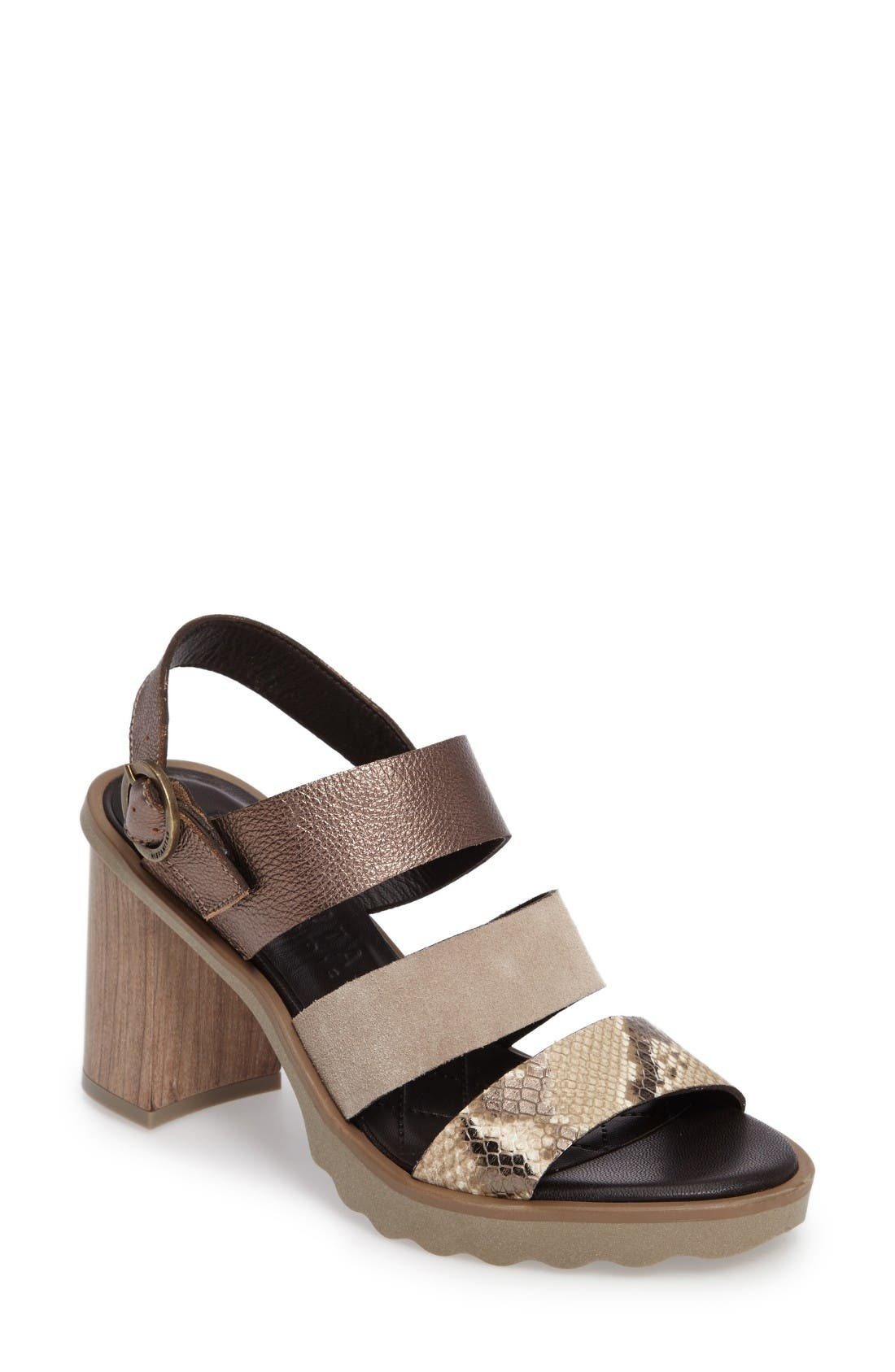 Greer Strappy Slingback Sandal,                         Main,                         color, Narabi Natural Leather