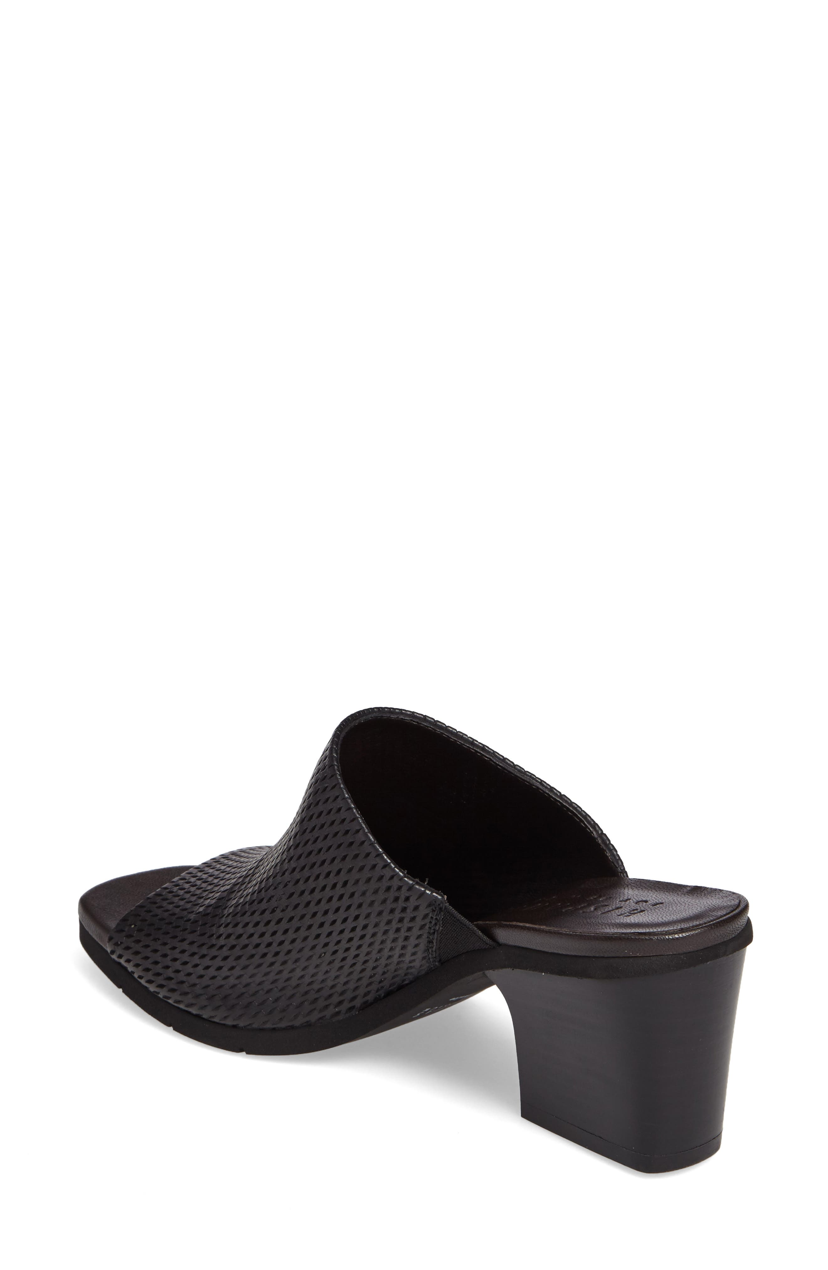 Udora Perforated Mule,                             Alternate thumbnail 2, color,                             Keops Black Leather
