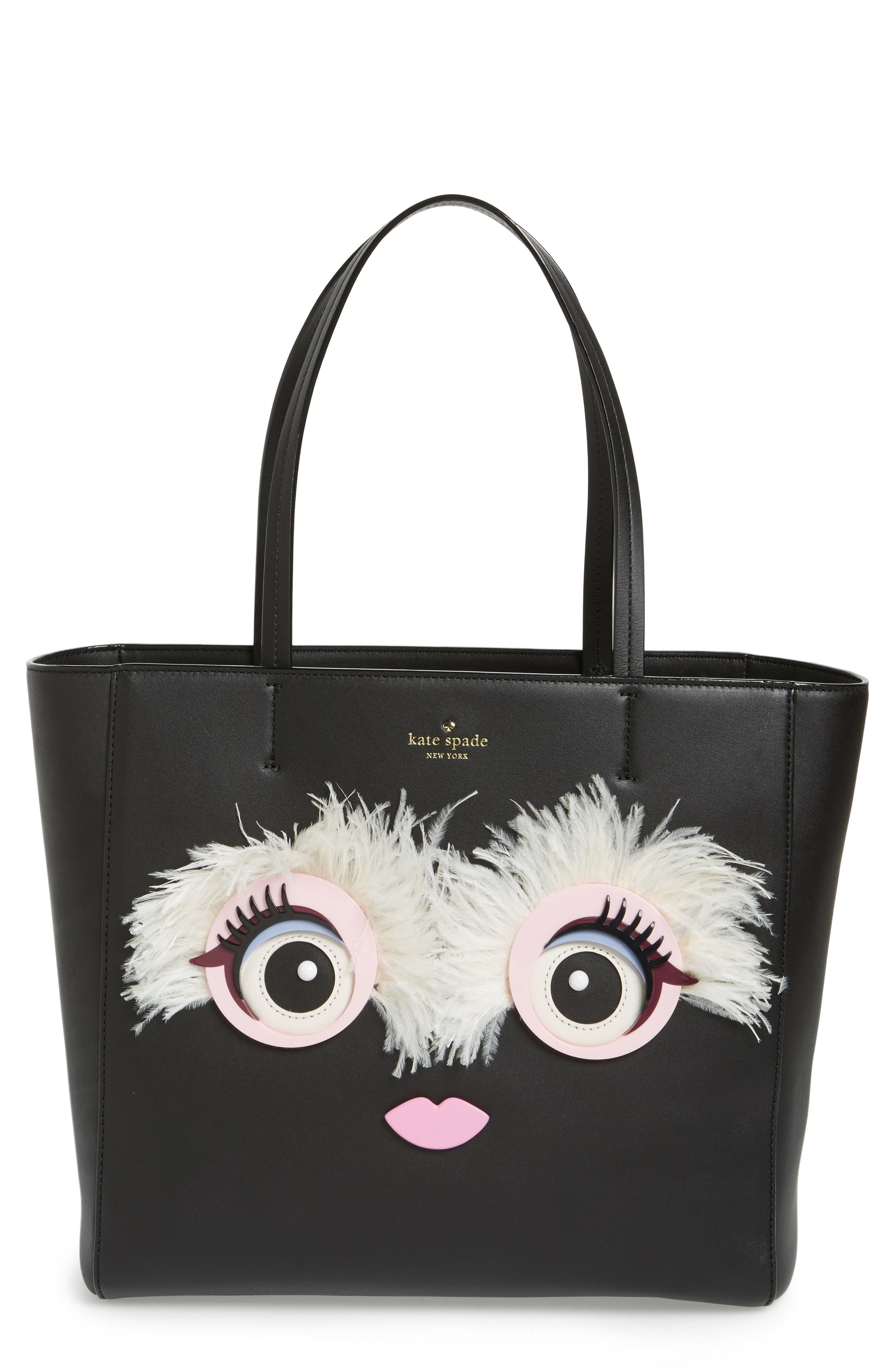 Main Image - kate spade new york monster eyes - hallie leather tote