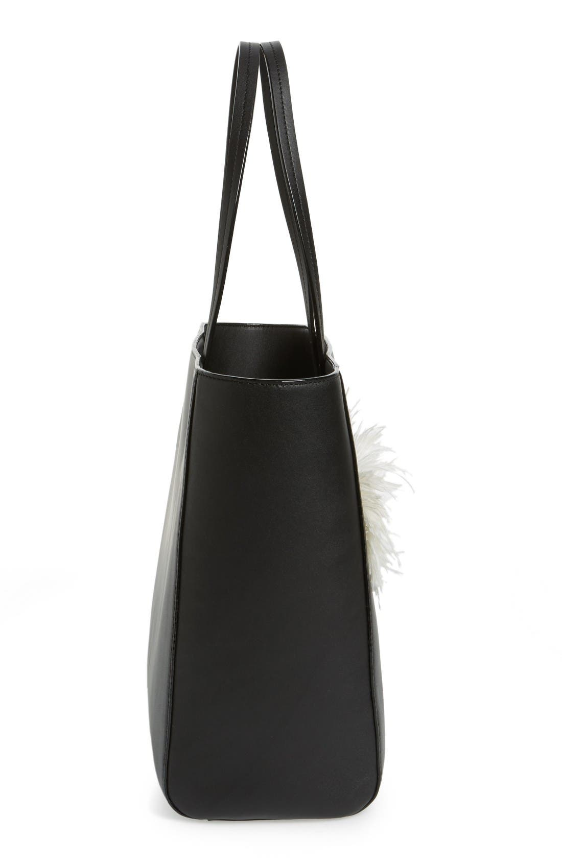 Alternate Image 4  - kate spade new york monster eyes - hallie leather tote