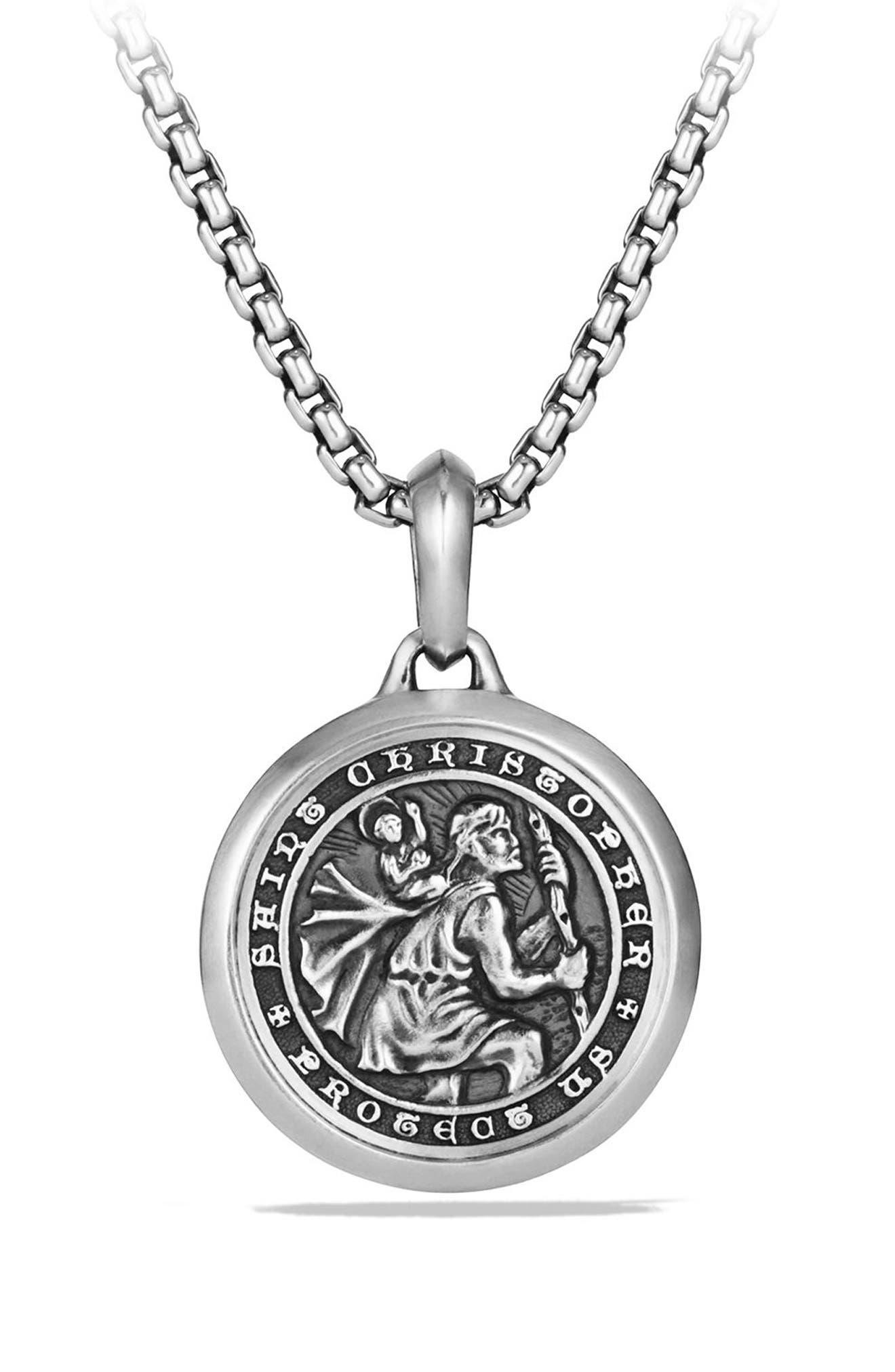 St. Christopher Amulet,                             Main thumbnail 1, color,                             Silver