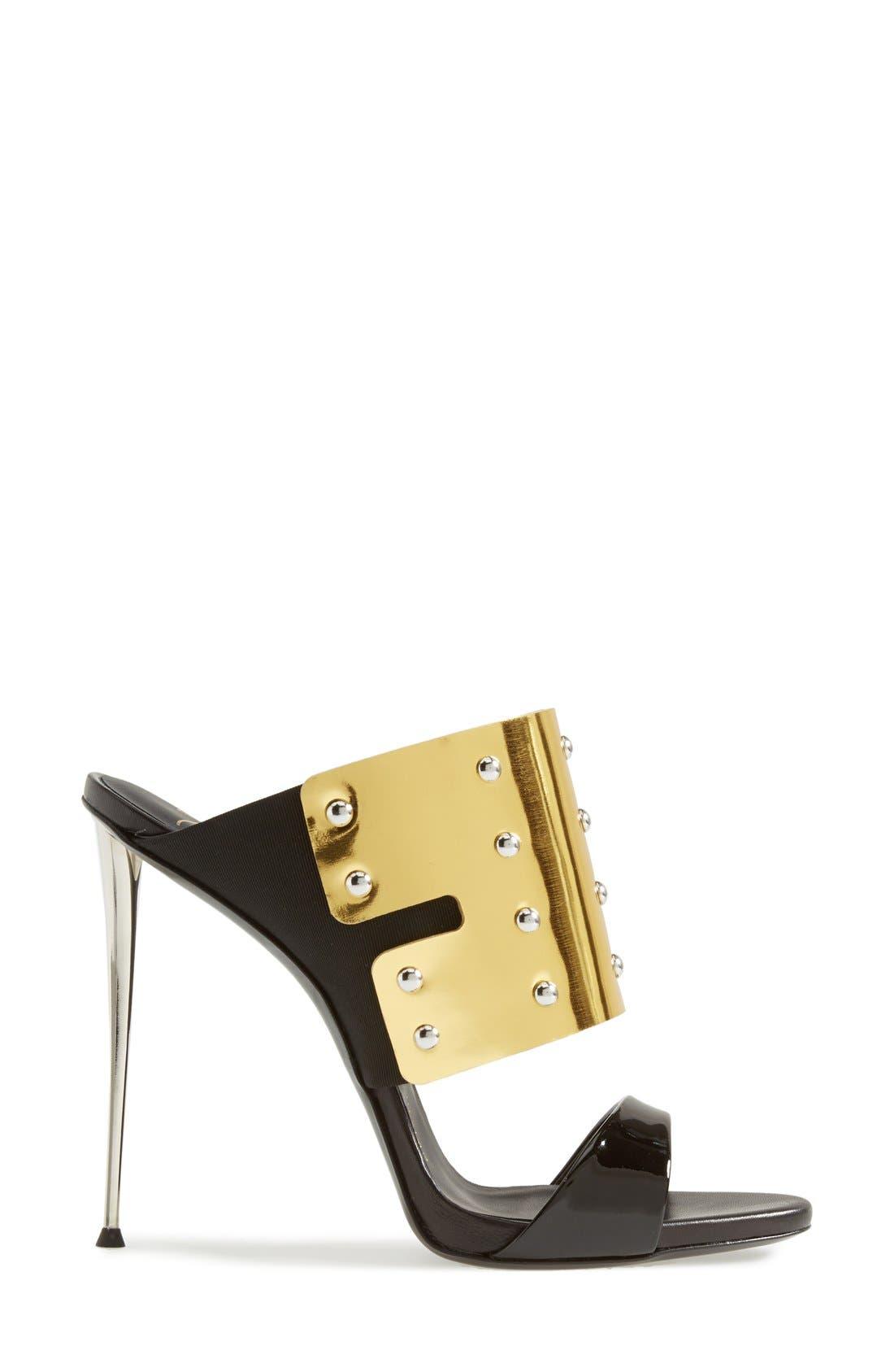 Alternate Image 4  - Giuseppe Zanotti 'Coline' Metallic Cuff Sandal (Women)