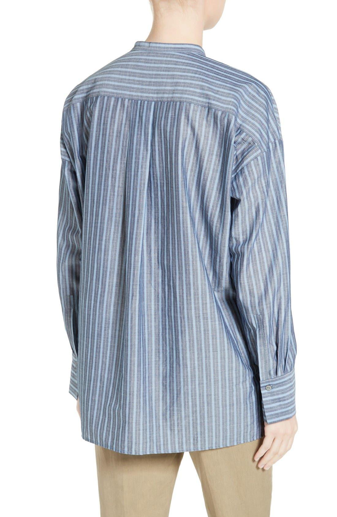 Alternate Image 2  - Vince Stripe Popover Shirt