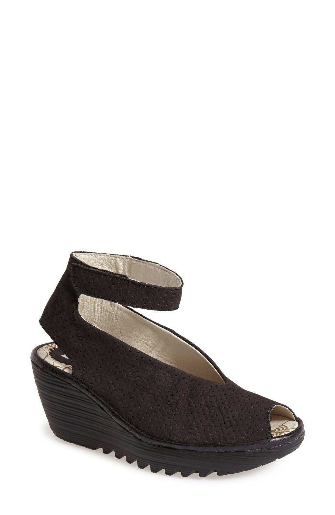 Fly London 'Yala' Perforated Leather Sandal