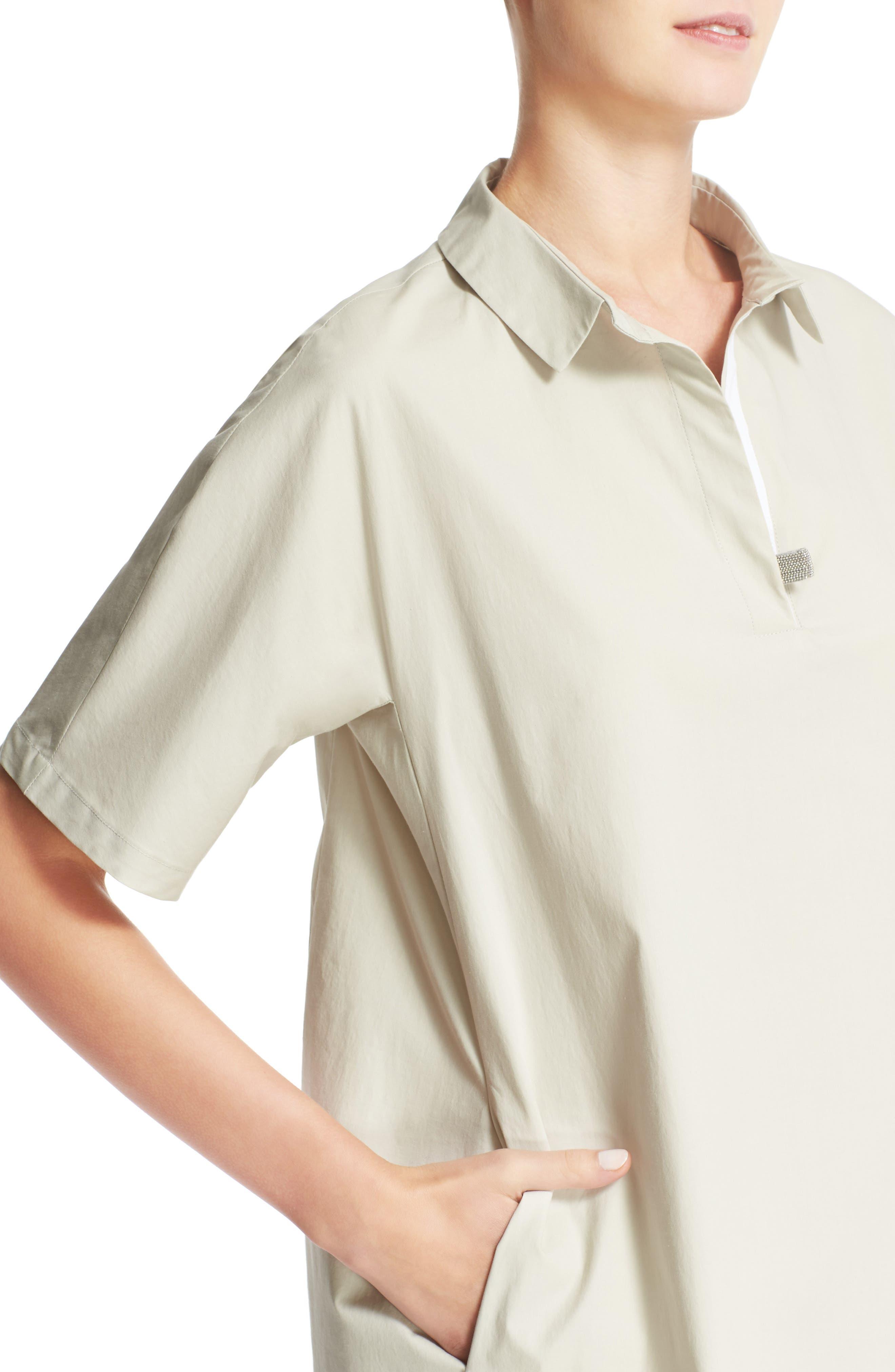 Alternate Image 6  - Fabiana Filippi Grosgrain Trim Shirtdress