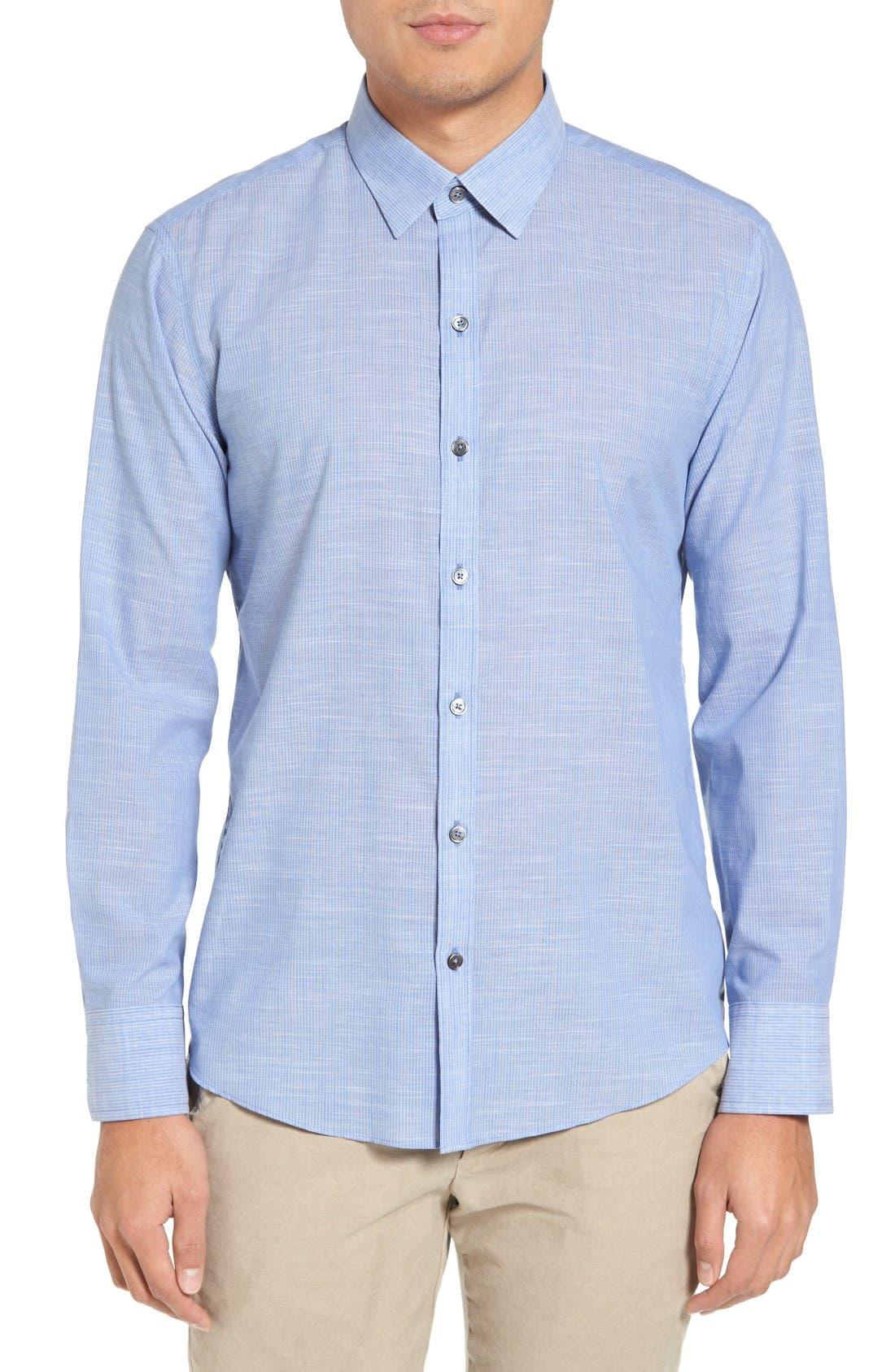 Main Image - Zachary Prell Ronan Trim Fit Stripe Sport Shirt
