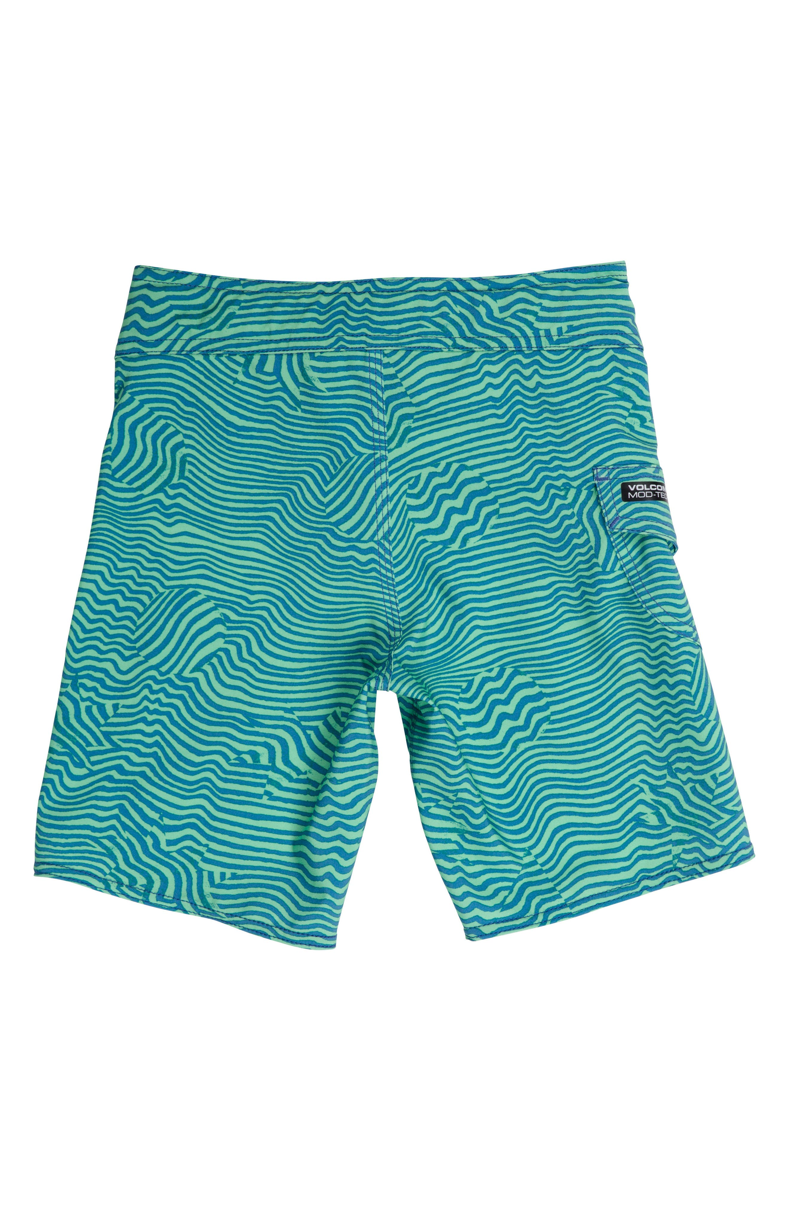 Magnetic Stone Board Shorts,                             Alternate thumbnail 2, color,                             Poison Green