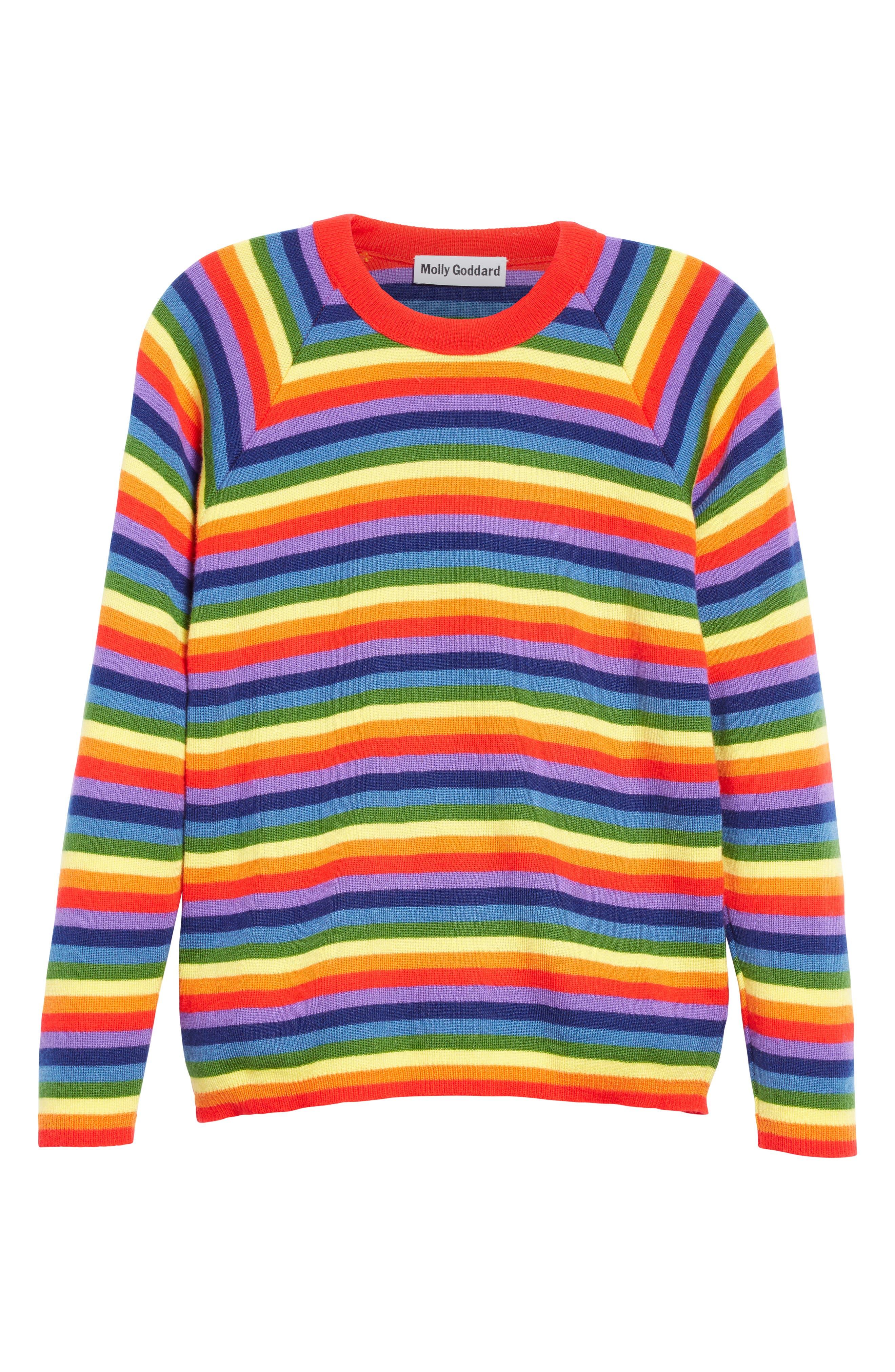Charlie Rainbow Sweater,                             Alternate thumbnail 4, color,                             Rainbow