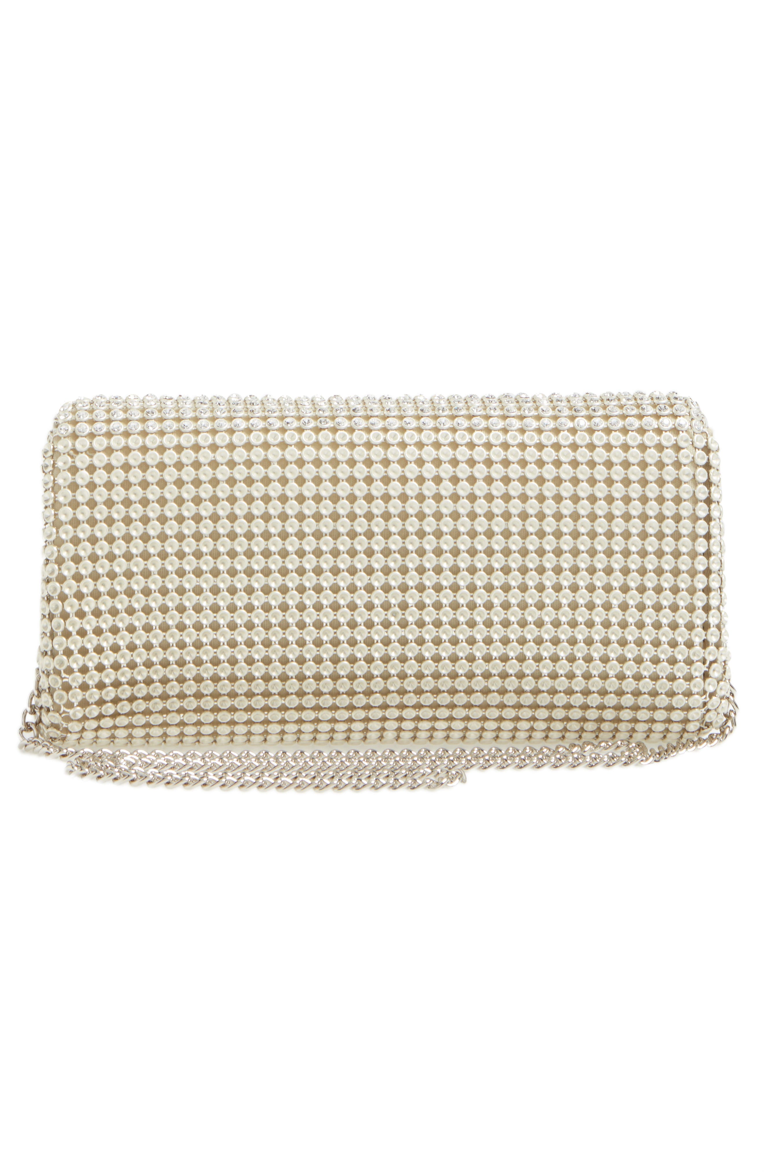 Crystal Triangle Clutch,                             Alternate thumbnail 2, color,                             Pearl