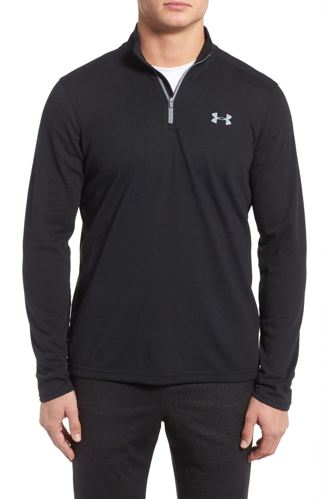 Alternate Image 1 Selected - Under Armour ColdGear® Quarter-Zip Pullover