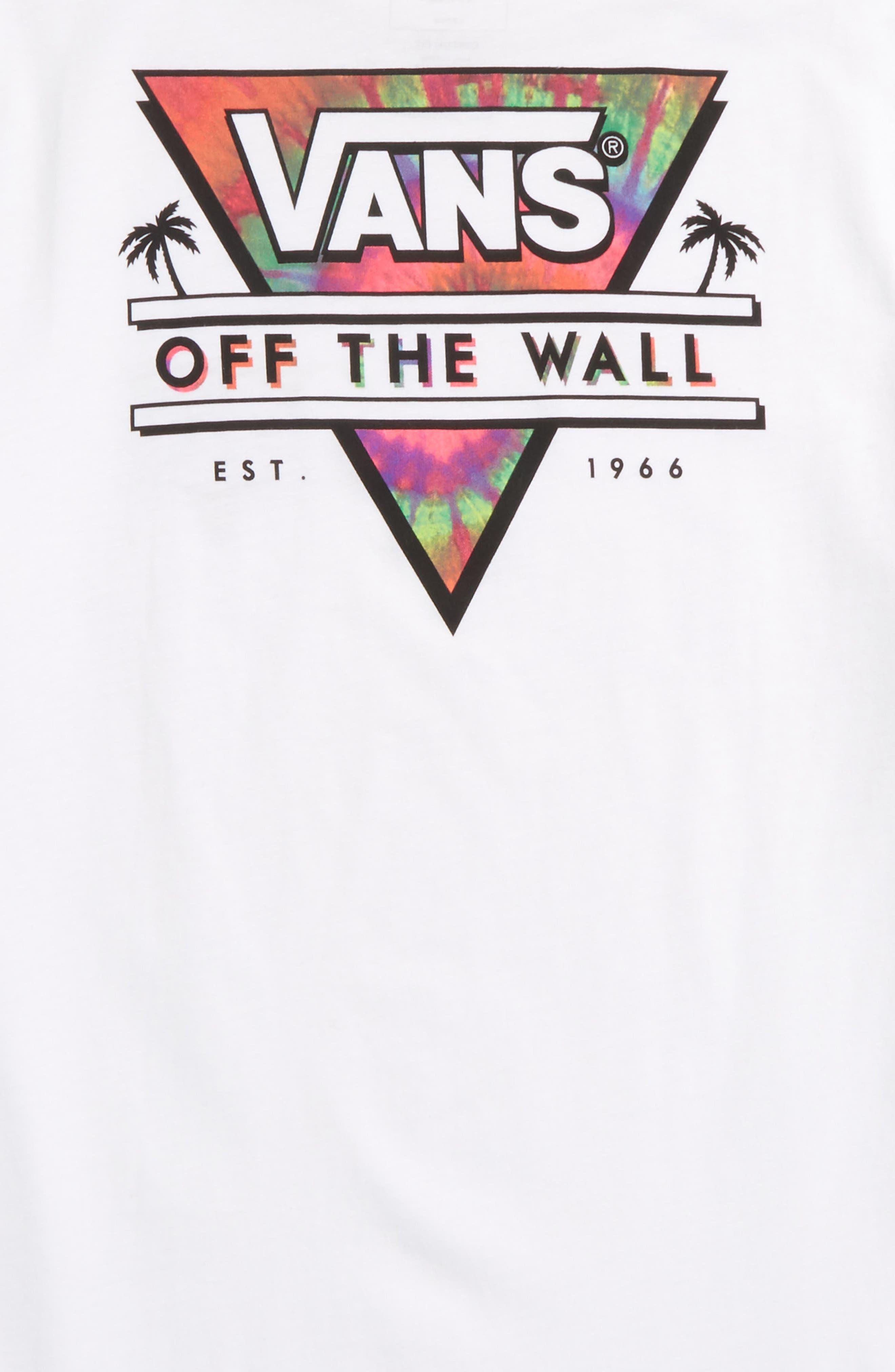 Retro Triangle Graphic T-Shirt,                             Alternate thumbnail 3, color,                             White