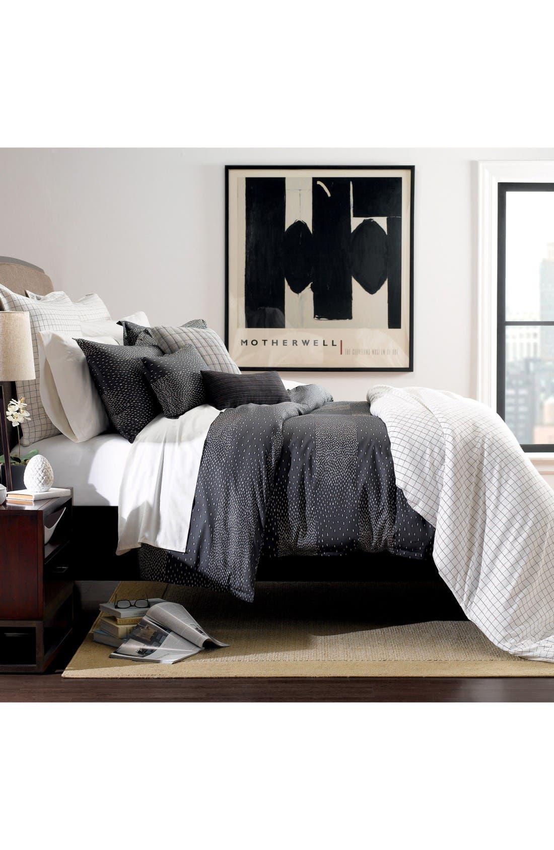 Nova Sky Organic Cotton Duvet Cover,                         Main,                         color, Black