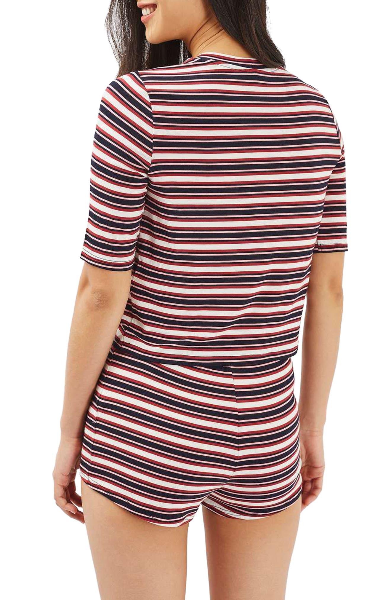 Alternate Image 3  - Topshop Harriet Stripe Pajamas
