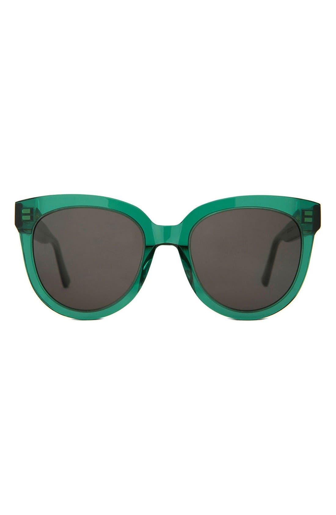 Illusion 53mm Sunglasses,                         Main,                         color, Green