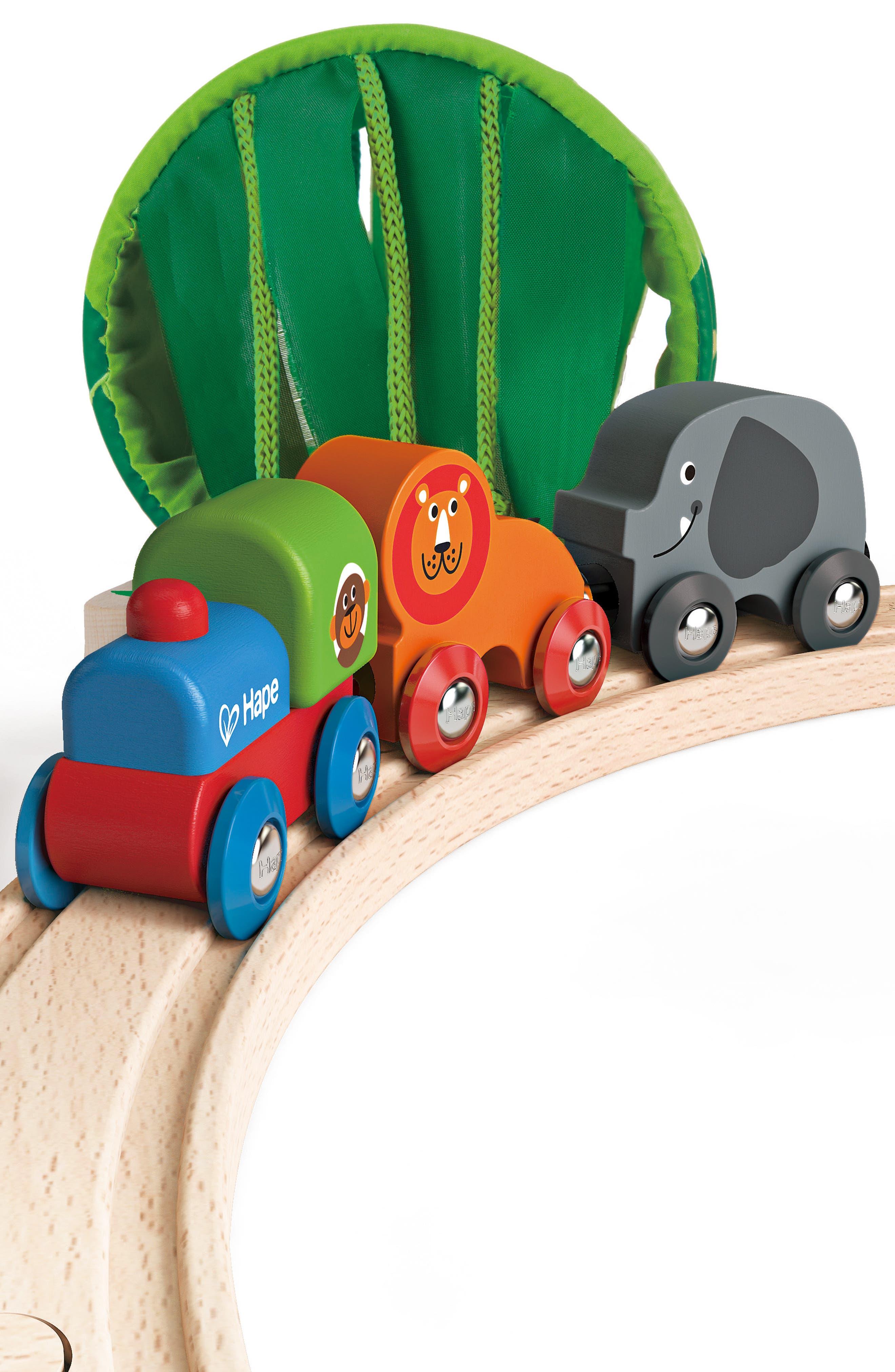 Jungle Train Journey Wooden Train Set,                             Alternate thumbnail 5, color,                             Multi