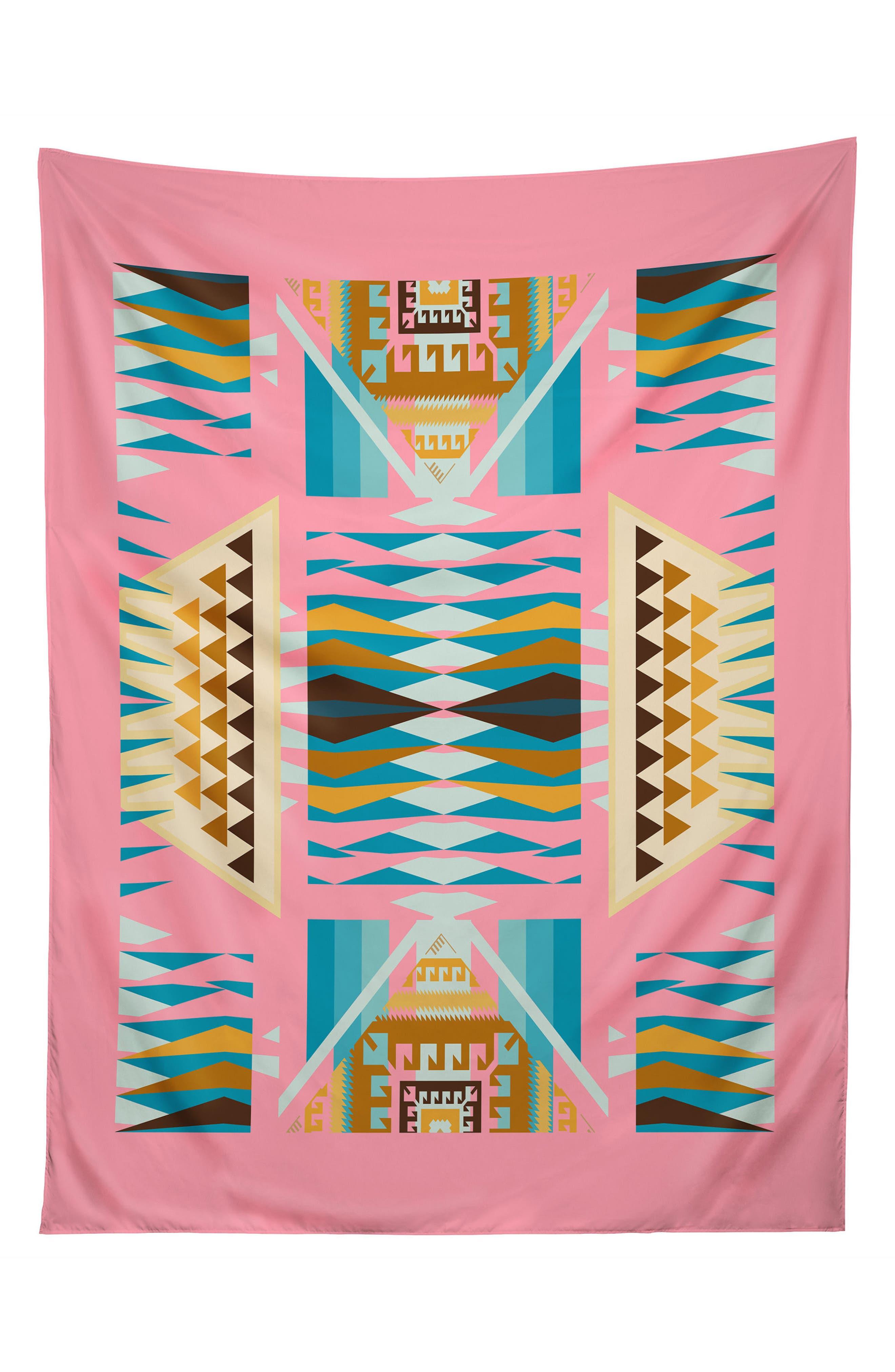 Main Image - Deny Designs Acacia Pink Tapestry